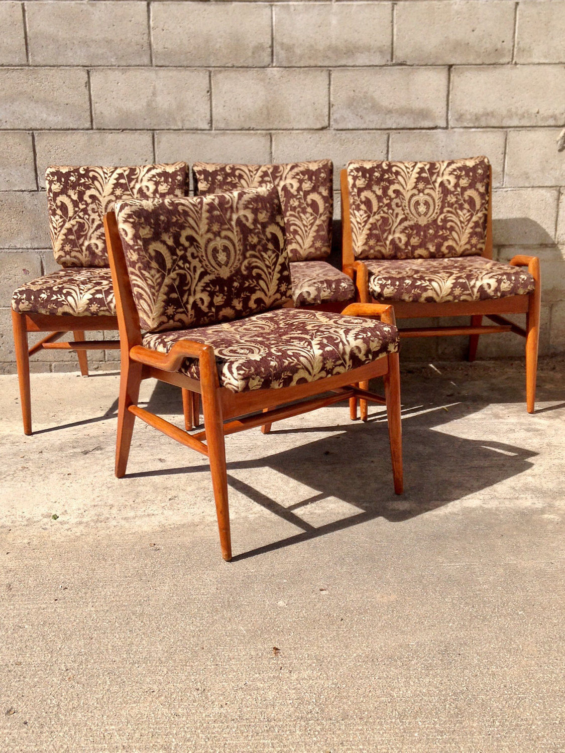 Mid Century Danish Modern Set Of Four (4) Dining Chairsjohn Intended For Best And Newest John 4 Piece Dining Sets (#12 of 20)