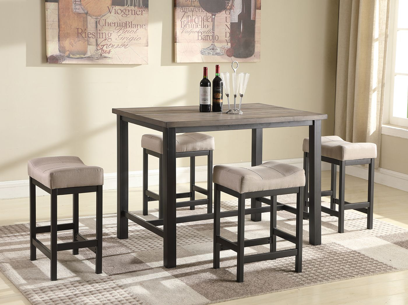 Inspiration about Middleport 5 Piece Dining Sets With Regard To Famous 5 Pc. Pub Dining Set (#14 of 20)