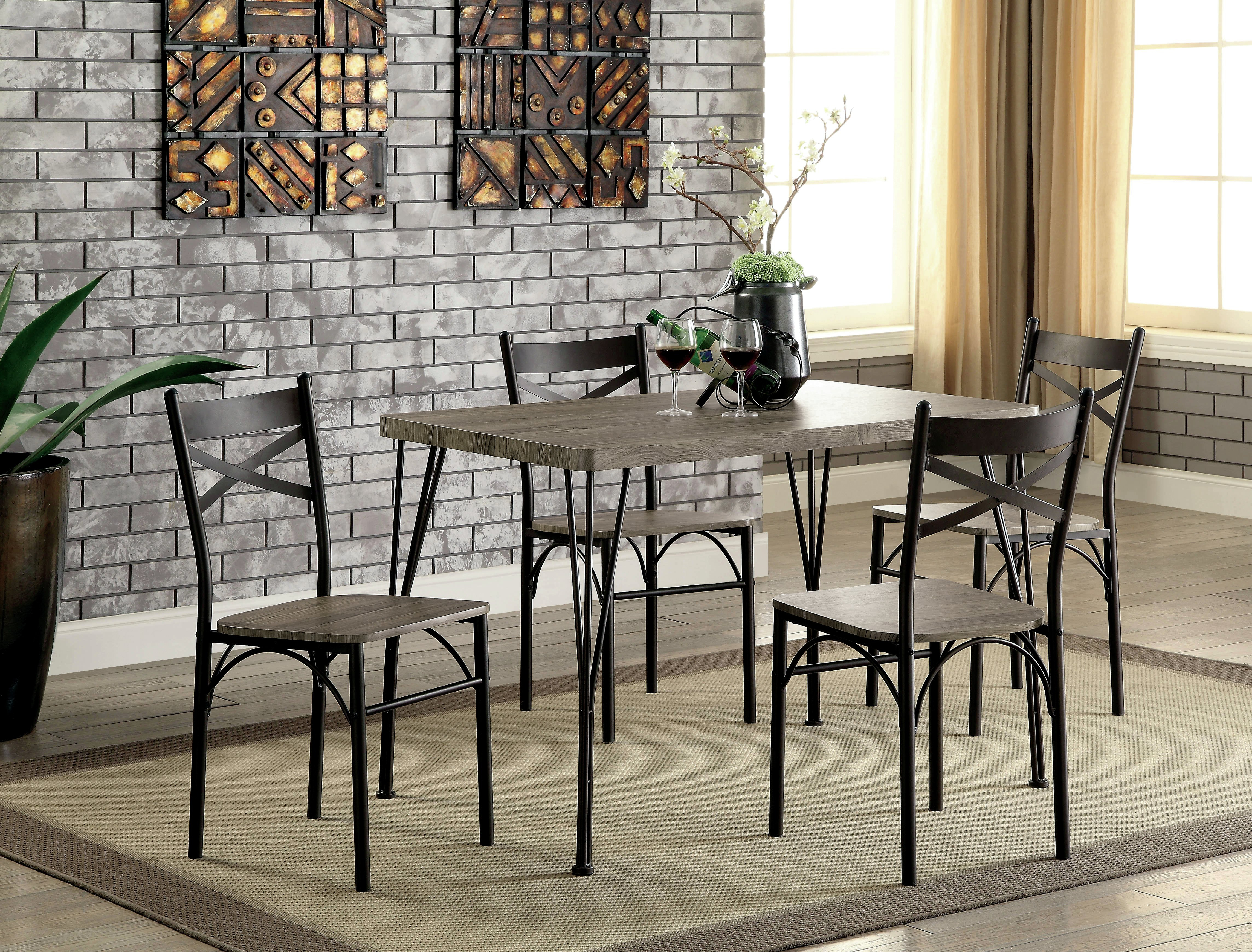 Inspiration about Middleport 5 Piece Dining Sets Within Fashionable Andover Mills Middleport 5 Piece Dining Set & Reviews (#2 of 20)