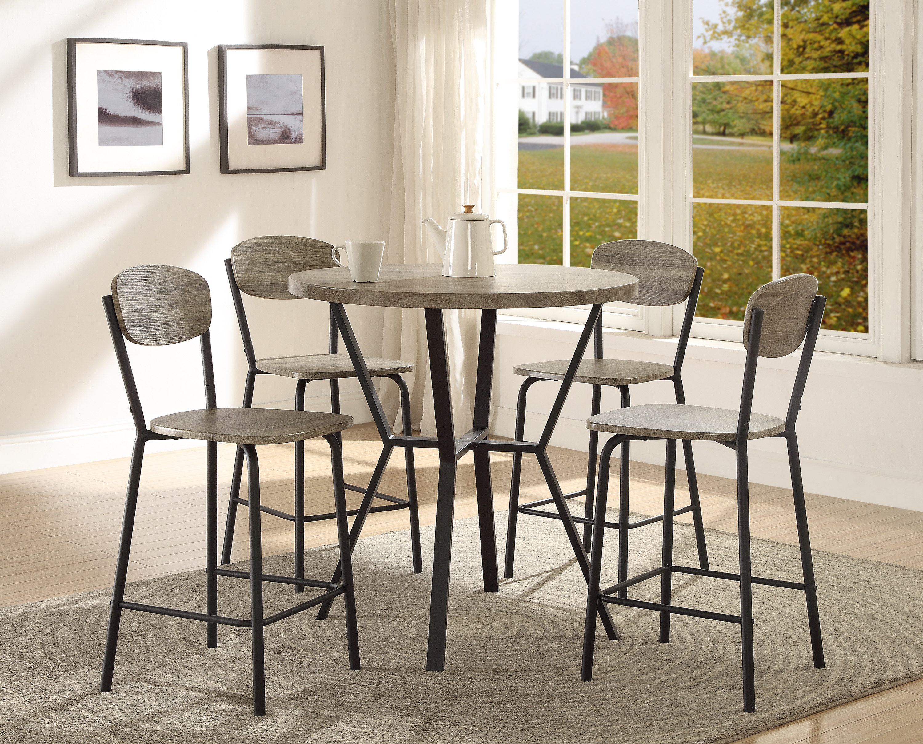 Millwood Pines Felicia 5 Piece Counter Height Dining Set & Reviews In Preferred Wiggs 5 Piece Dining Sets (View 16 of 20)