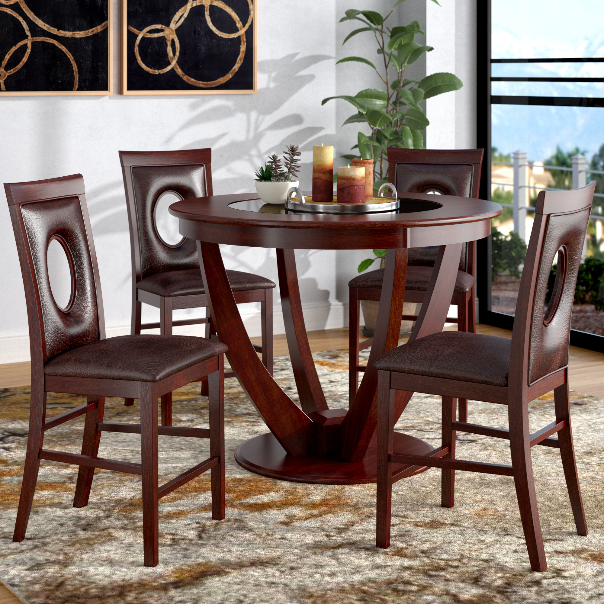 Inspiration about Mizpah 3 Piece Counter Height Dining Sets With Regard To Famous Latitude Run Depriest 5 Piece Counter Height Pub Table Set & Reviews (#18 of 20)