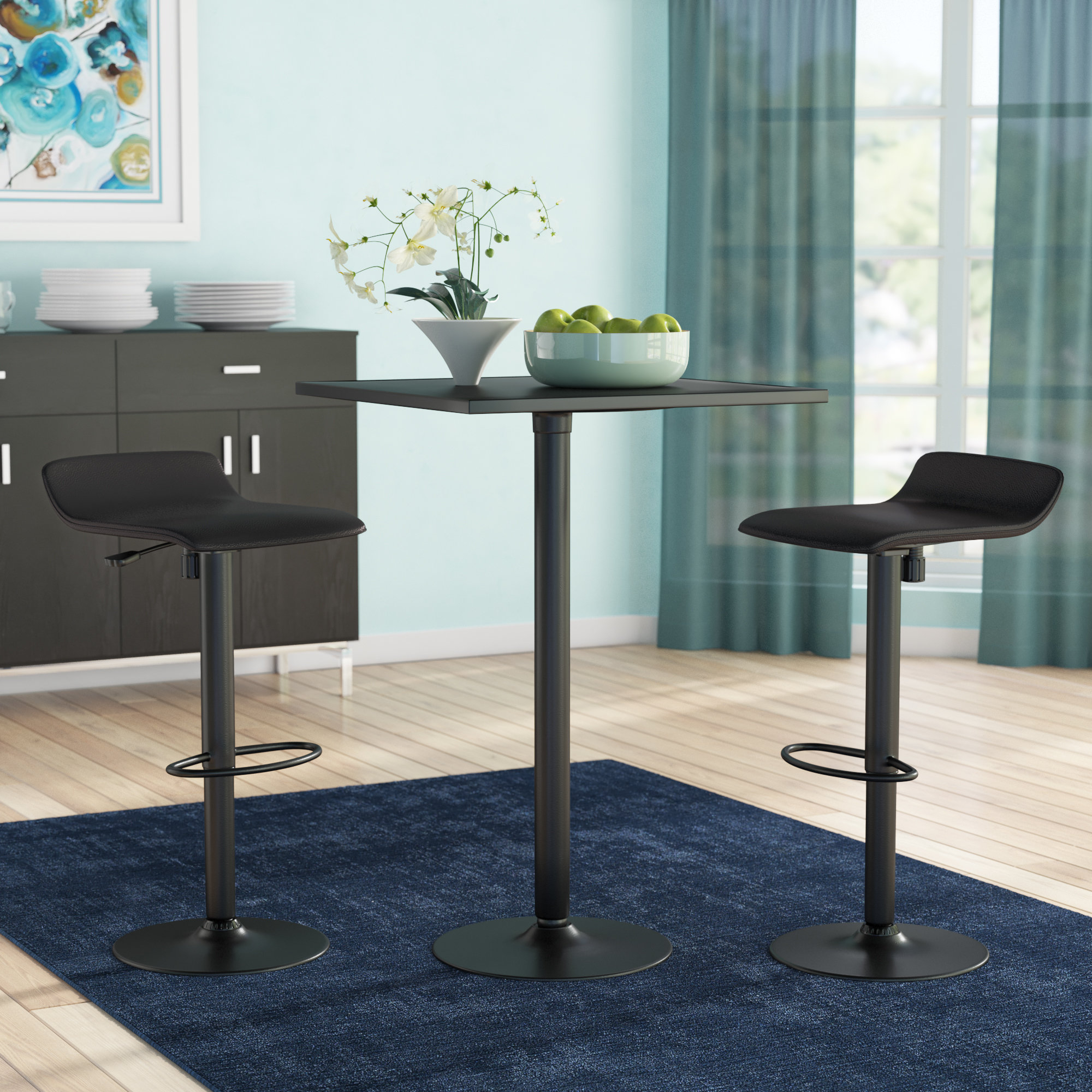 Mizpah 3 Piece Counter Height Dining Sets With Widely Used Zipcode Design Avery 3 Piece Dining Table Set & Reviews (#7 of 20)