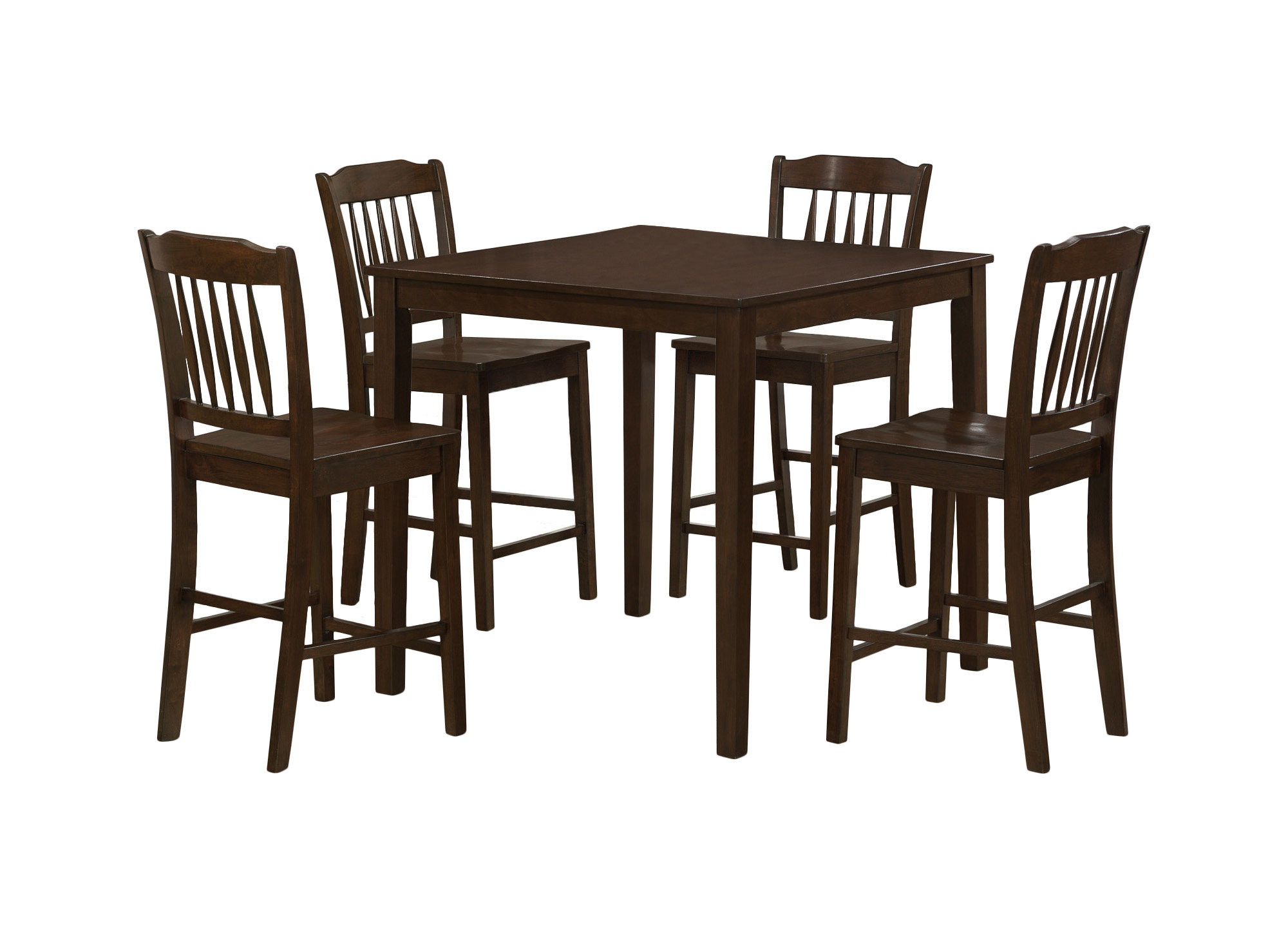 Inspiration about Monarch Specialties Inc. 5 Piece Counter Height Dining Set & Reviews In Current Saintcroix 3 Piece Dining Sets (#10 of 20)