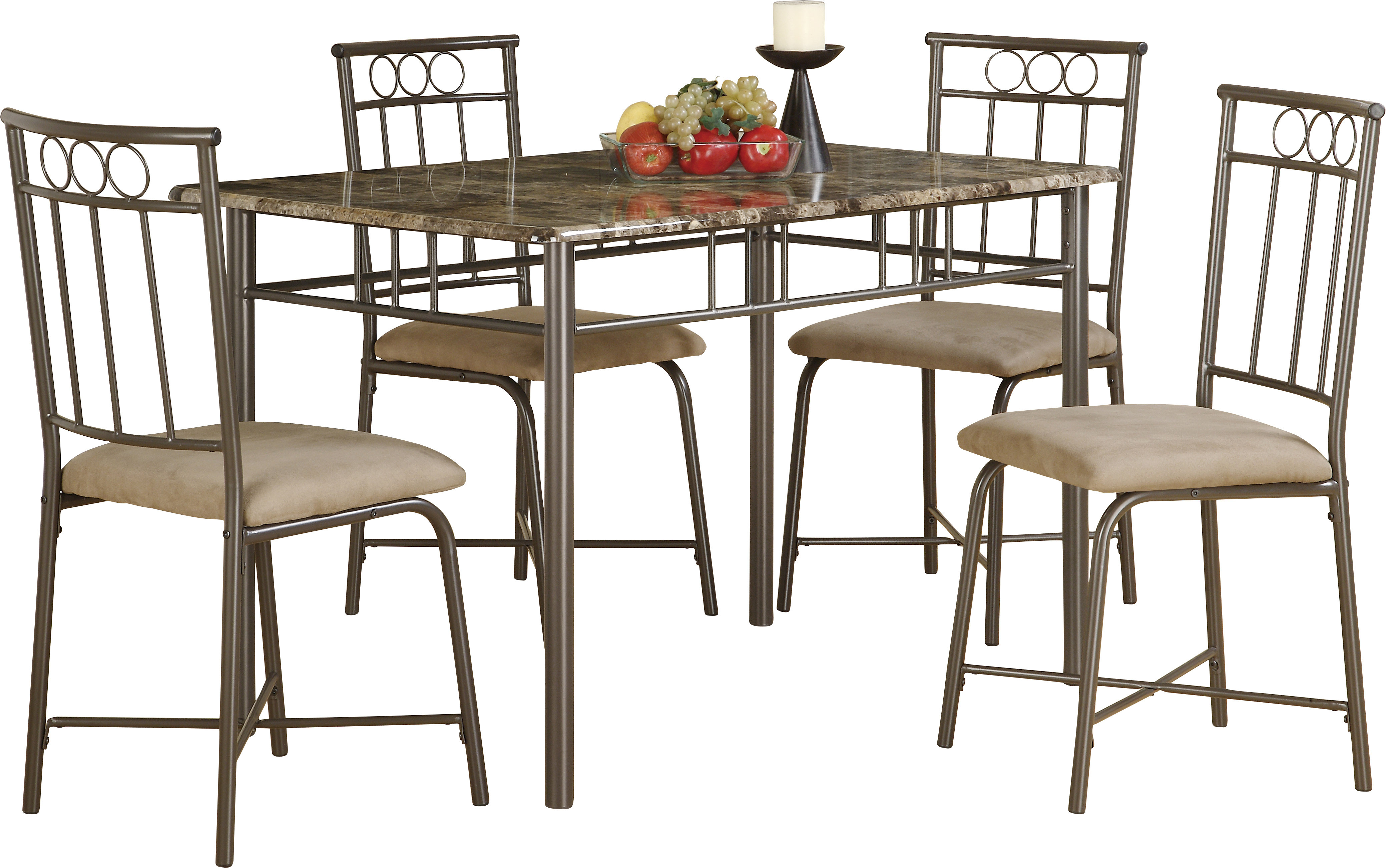 Inspiration about Monarch Specialties Inc. 5 Piece Dining Set & Reviews (#6 of 20)