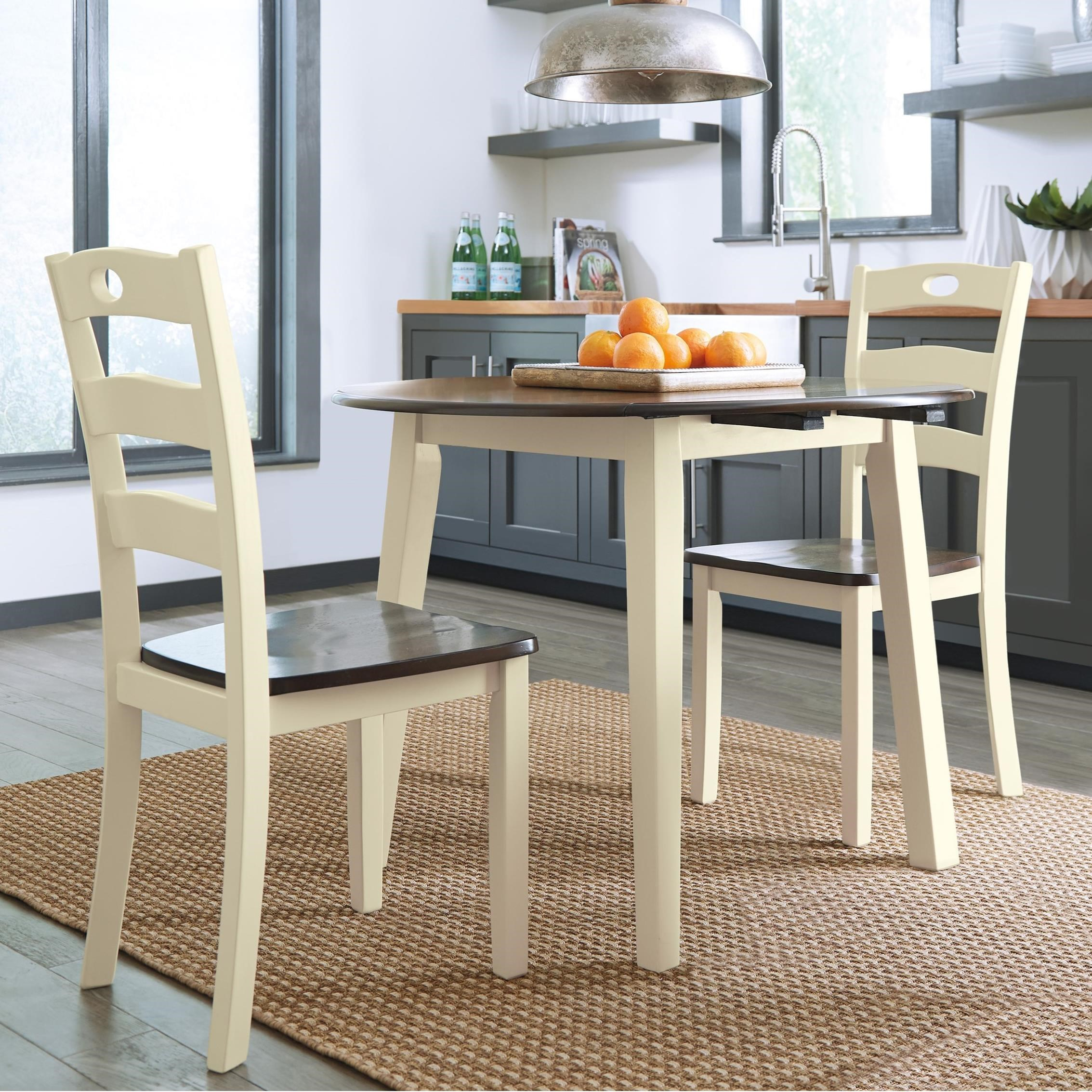 Inspiration about Moorehead 3 Piece Counter Height Dining Sets Regarding Most Recent Signature Designashley Woodanville 3 Piece Round Drop Leaf Table (#6 of 20)