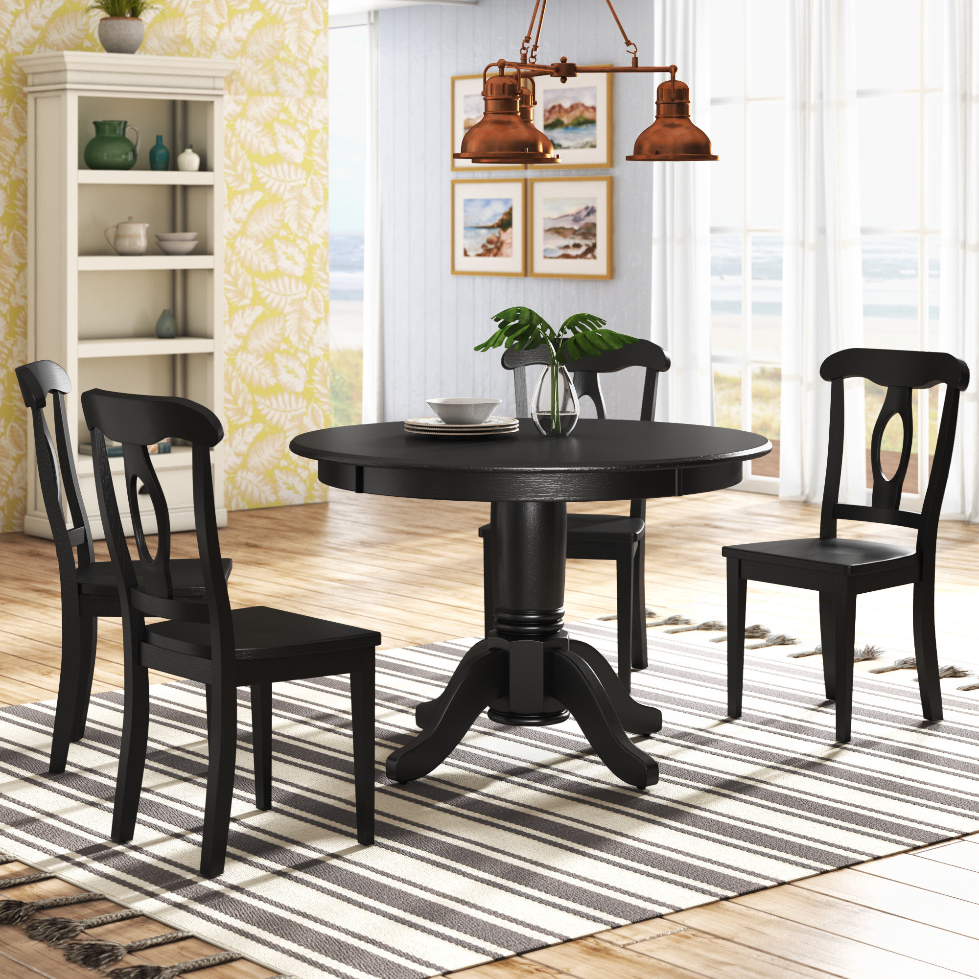 Most Current Beachcrest Home Gaskell 5 Piece Dining Set & Reviews (#7 of 20)
