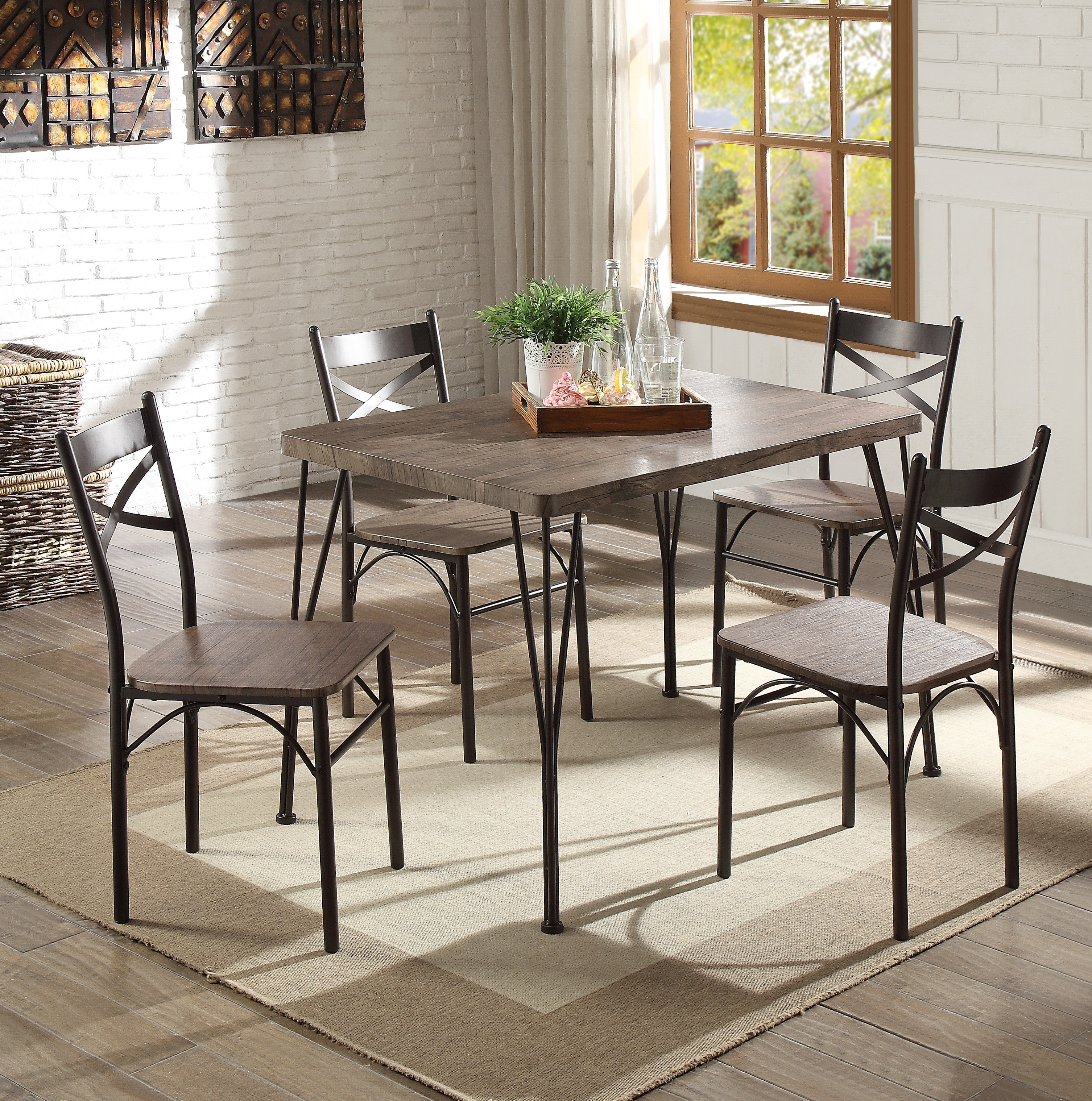 Inspiration about Most Current Emmeline 5 Piece Breakfast Nook Dining Sets Throughout Andover Mills Middleport 5 Piece Dining Set & Reviews (#10 of 20)