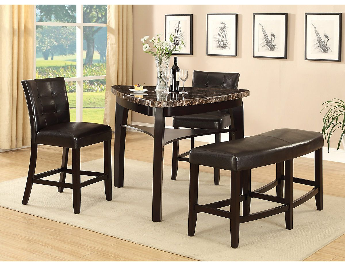 Most Current Hood Canal 3 Piece Dining Sets Within Cypress 4 Piece Counter Height Pub Style Dining Package, (Cyprespk (#10 of 20)