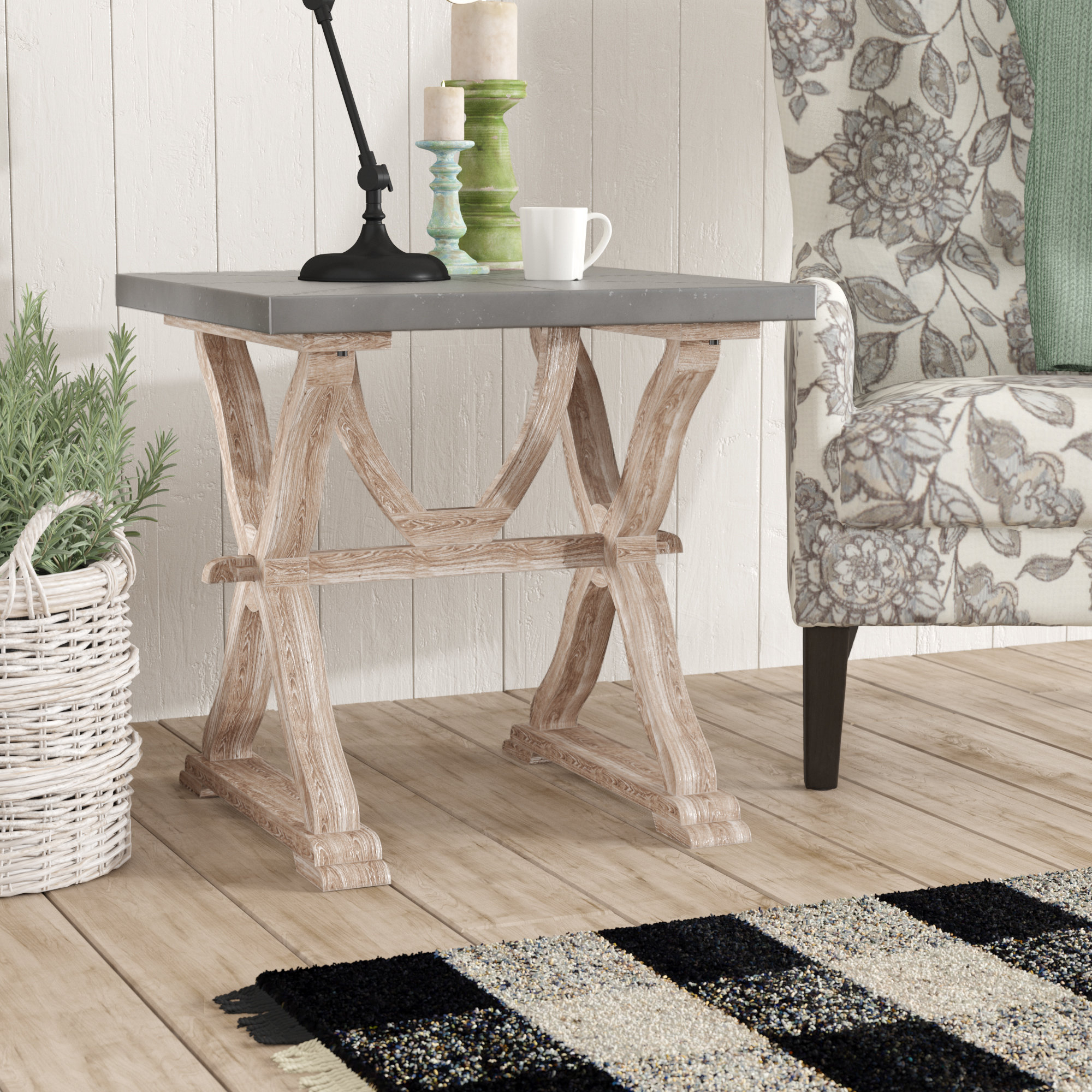 Most Current Lark Manor Osterberg End Table & Reviews (#13 of 20)