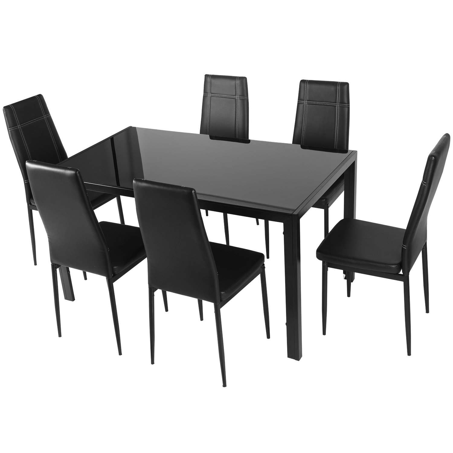 Most Current Maynard 5 Piece Dining Sets Throughout Merax Maynard 7 Piece Dining Set & Reviews (#10 of 20)