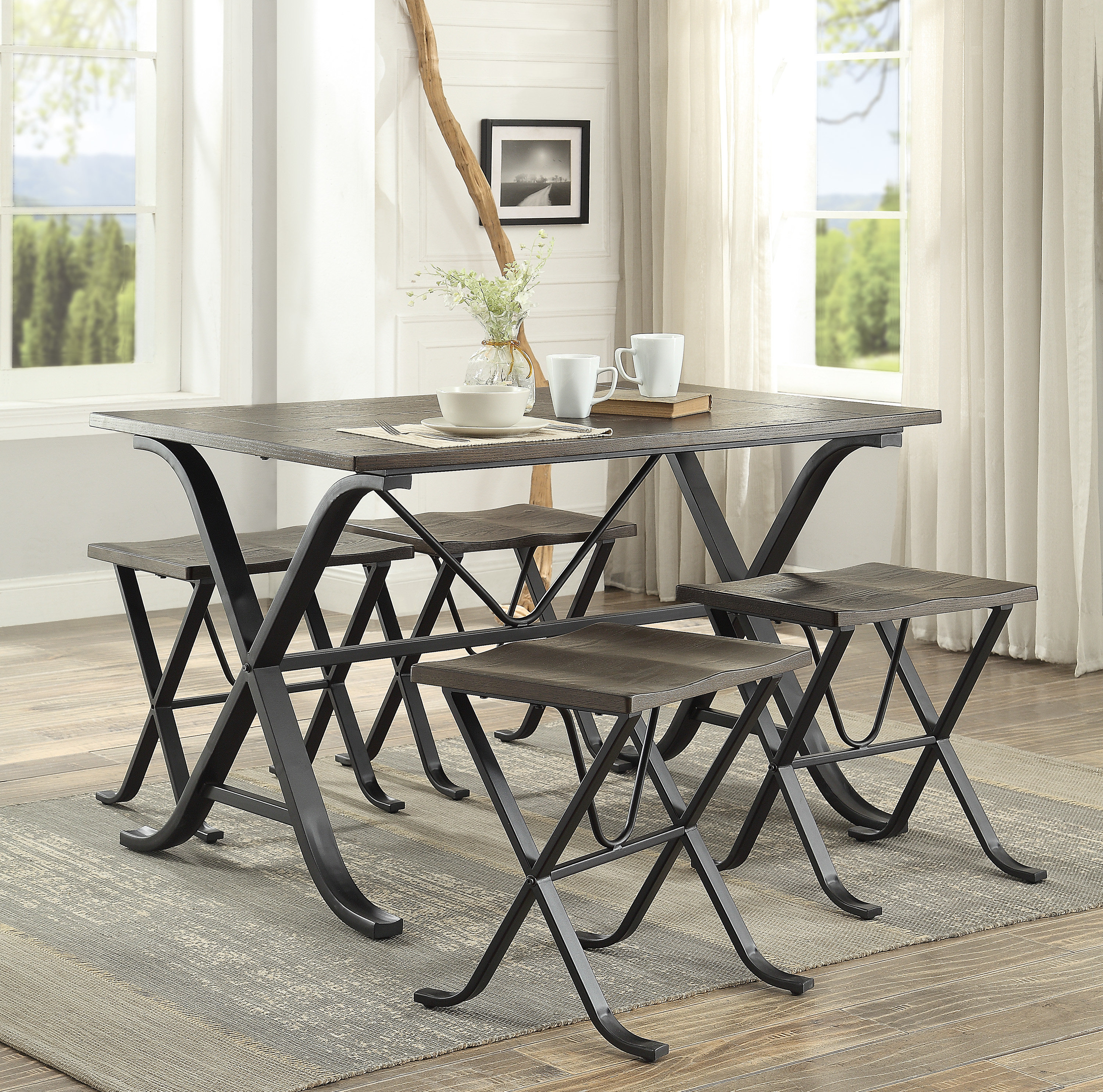 Most Current Middleport 5 Piece Dining Sets In Williston Forge Dolan 5 Piece Dining Set (#9 of 20)