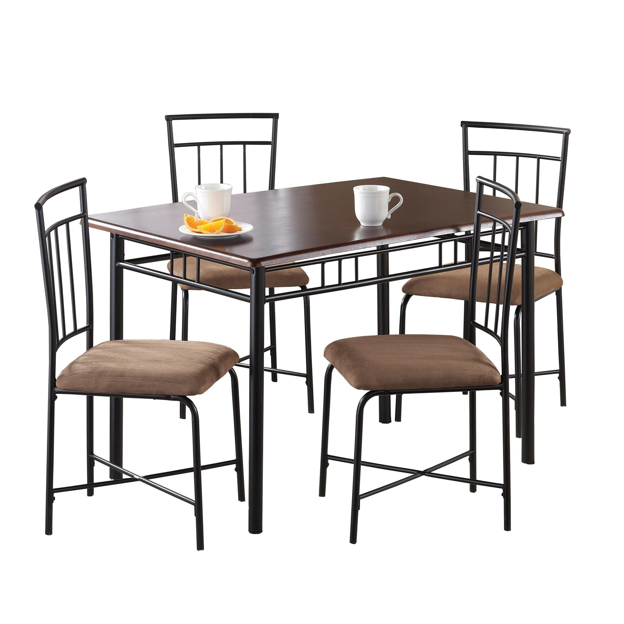 Most Current West Hill Family Table 3 Piece Dining Sets For Mainstays 5 Piece Dining Set, Multiple Colors – Walmart (#8 of 20)