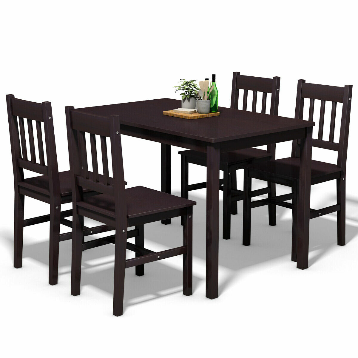Most Current Winston Porter Sundberg 5 Piece Solid Wood Dining Set & Reviews Within Miskell 5 Piece Dining Sets (#11 of 20)