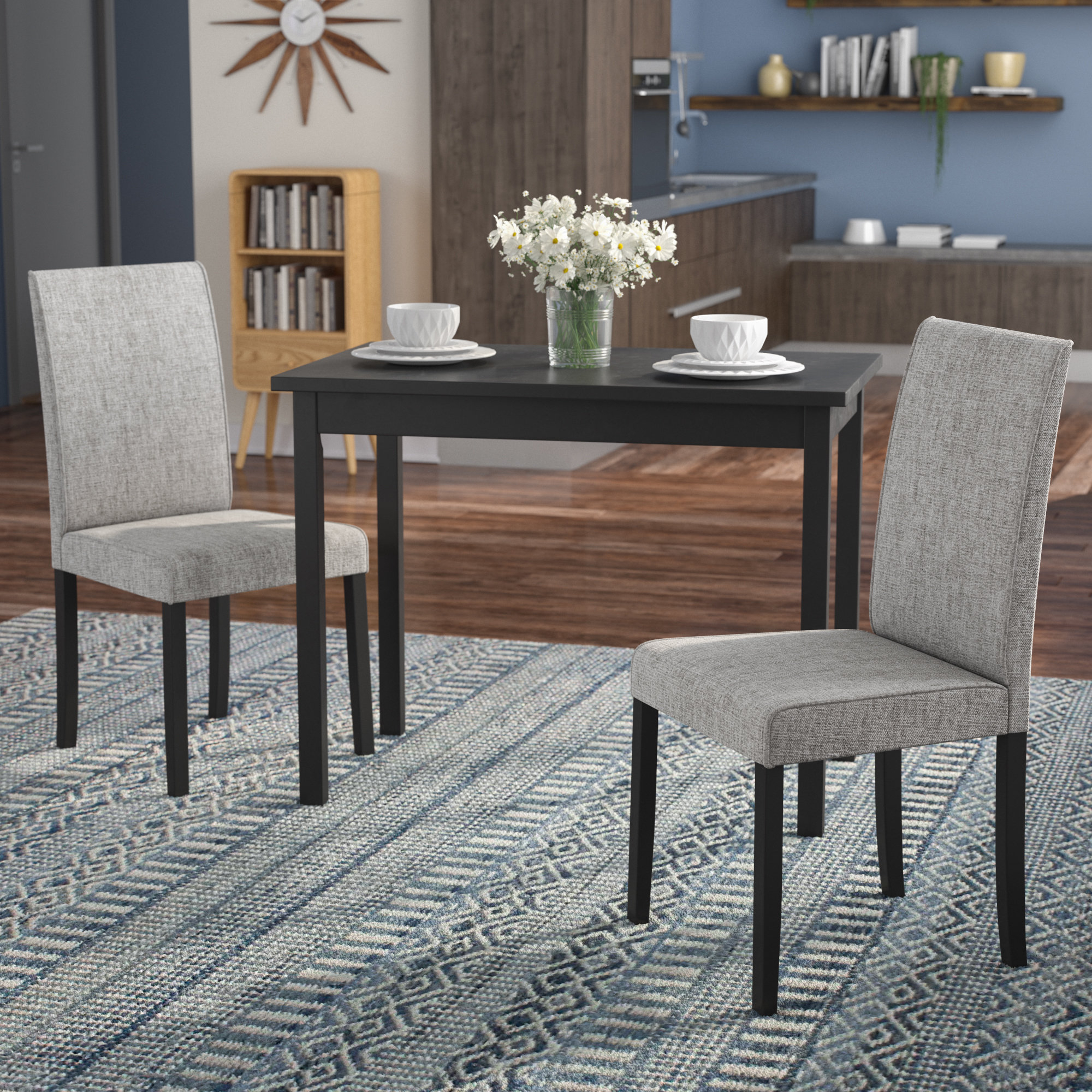 Most Popular Baillie 3 Piece Dining Sets Within Latitude Run Darvell 3 Piece Dining Set & Reviews (View 2 of 20)