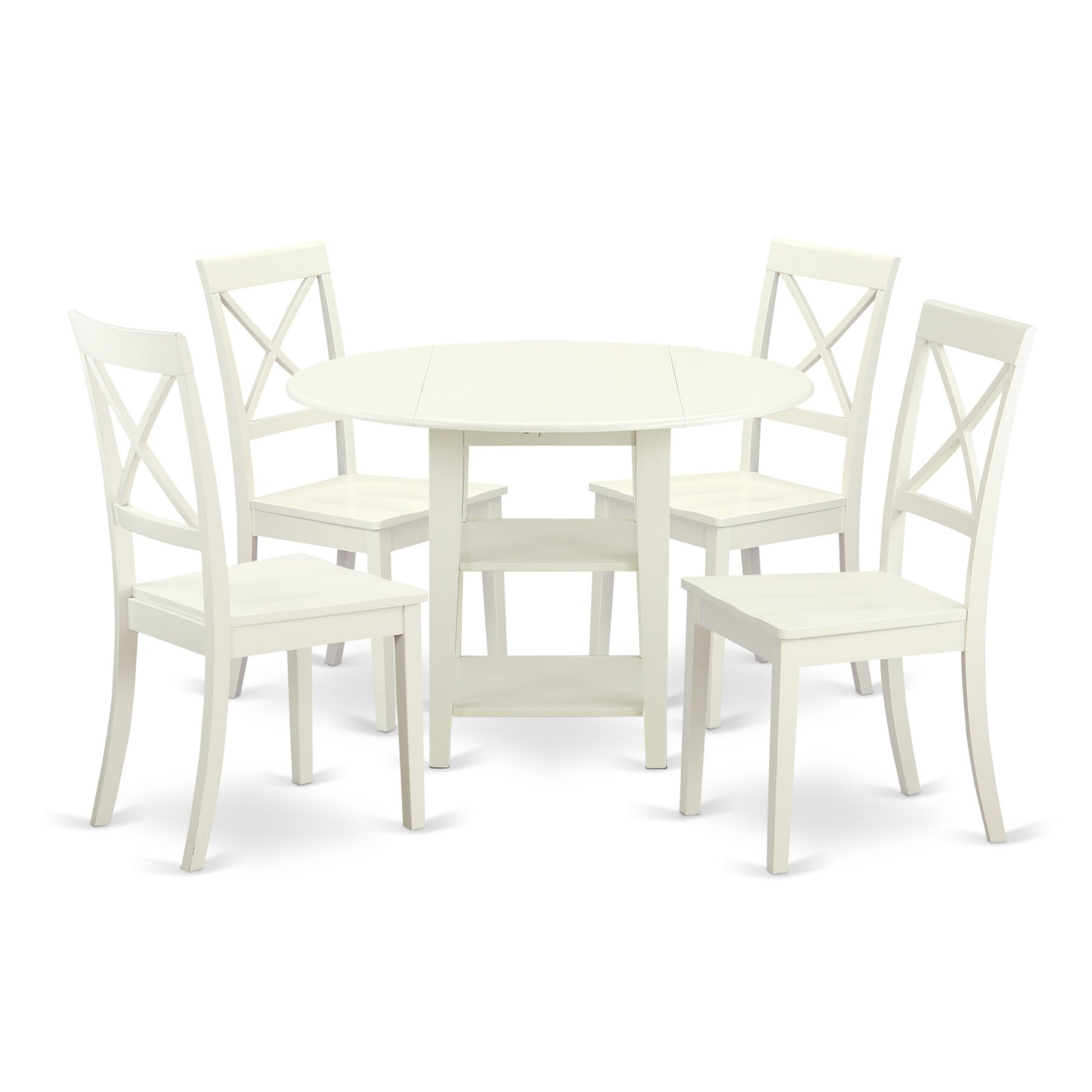Inspiration about Most Popular East West Furniture Sudbury 5 Piece Dual Drop Leaf Dining Table Set Intended For Kieffer 5 Piece Dining Sets (#10 of 20)