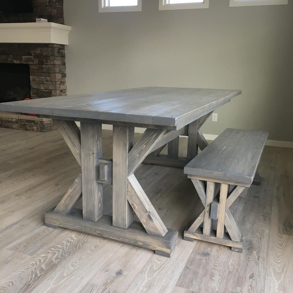 Most Popular Falmer 3 Piece Solid Wood Dining Sets Pertaining To 13 Free Diy Woodworking Plans For A Farmhouse Table (#10 of 20)