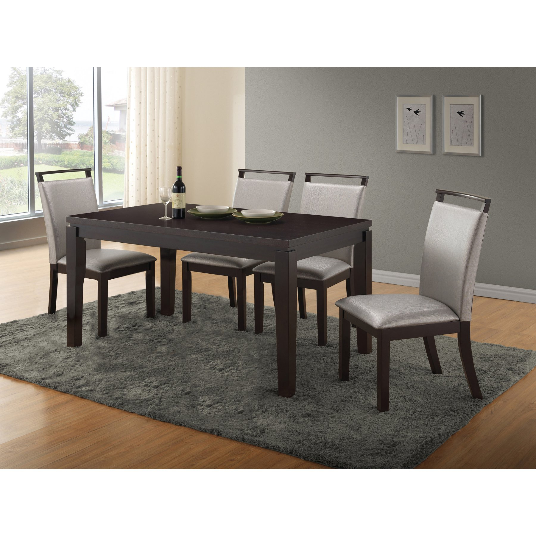 Most Popular Home Source Industries Christy 5 Piece Dining Table Set – H 6050 5 With Maynard 5 Piece Dining Sets (#13 of 20)