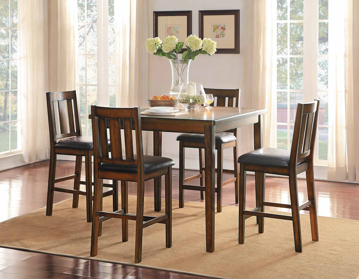 Popular Photo of Delmar 5 Piece Dining Sets