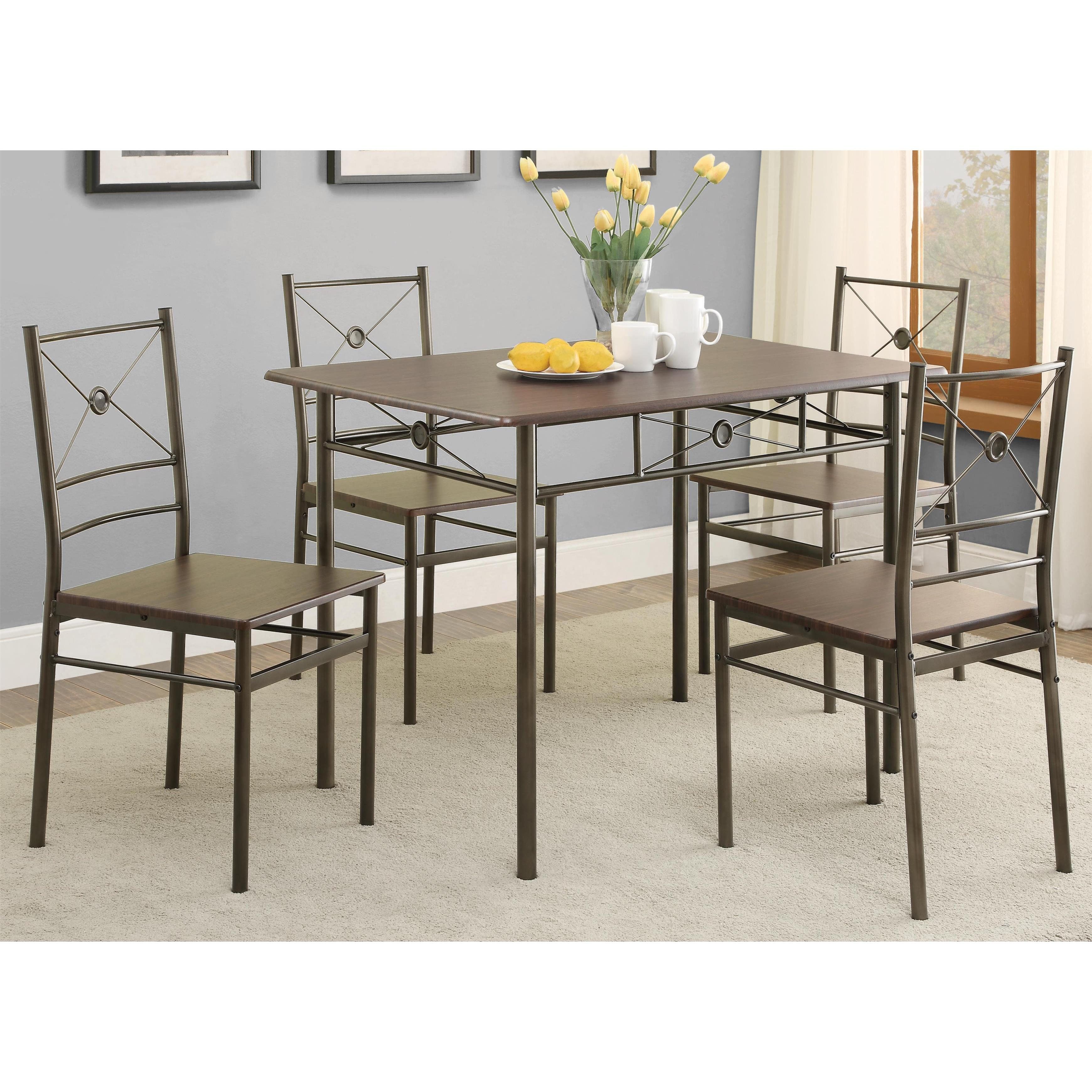 Most Popular Iron And Glass Dining Sets (#10 of 20)