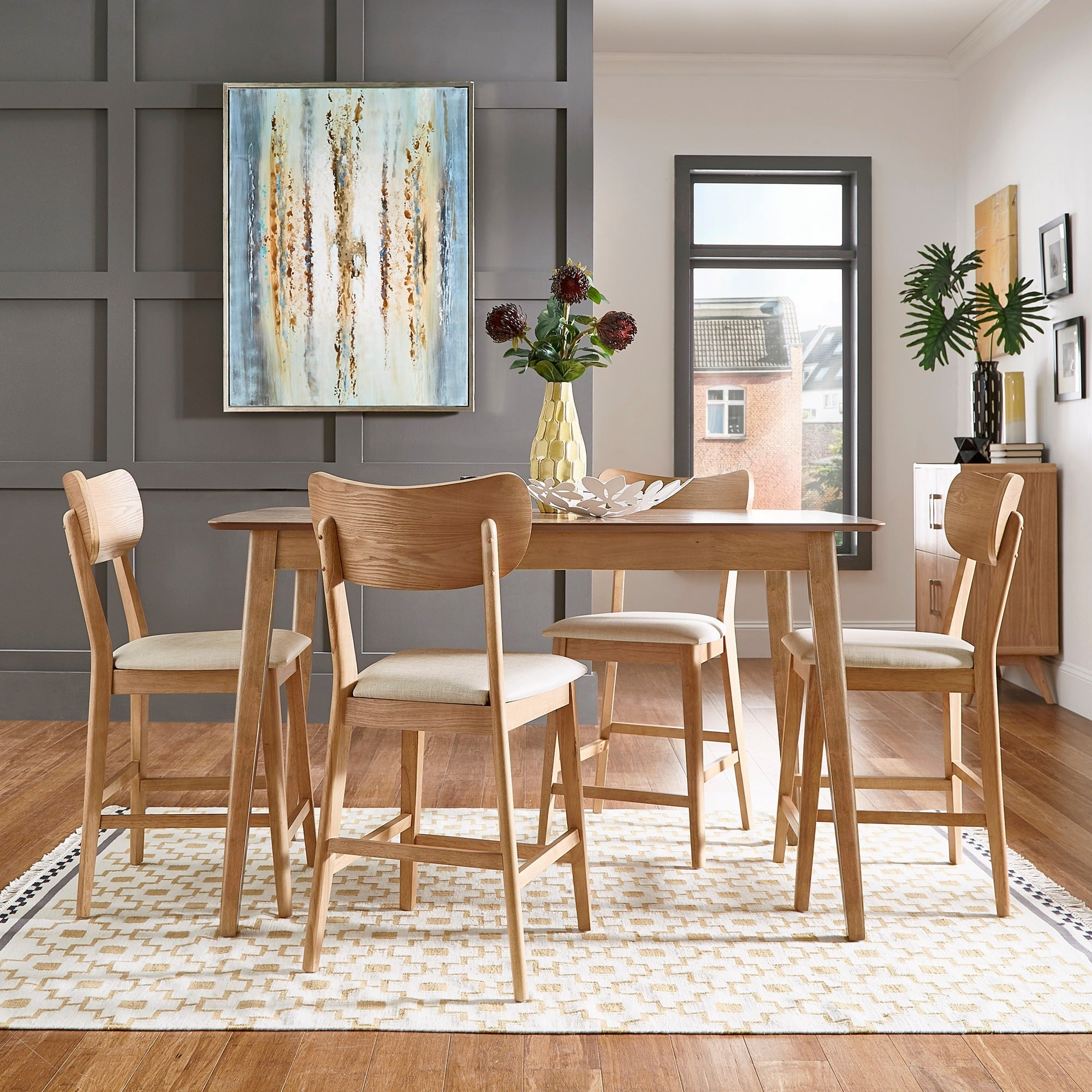 Inspiration about Most Popular Penelope 3 Piece Counter Height Wood Dining Sets Inside Shop Penelope Danish Modern Tapered Leg Counter Height Chair (Set Of (#16 of 20)