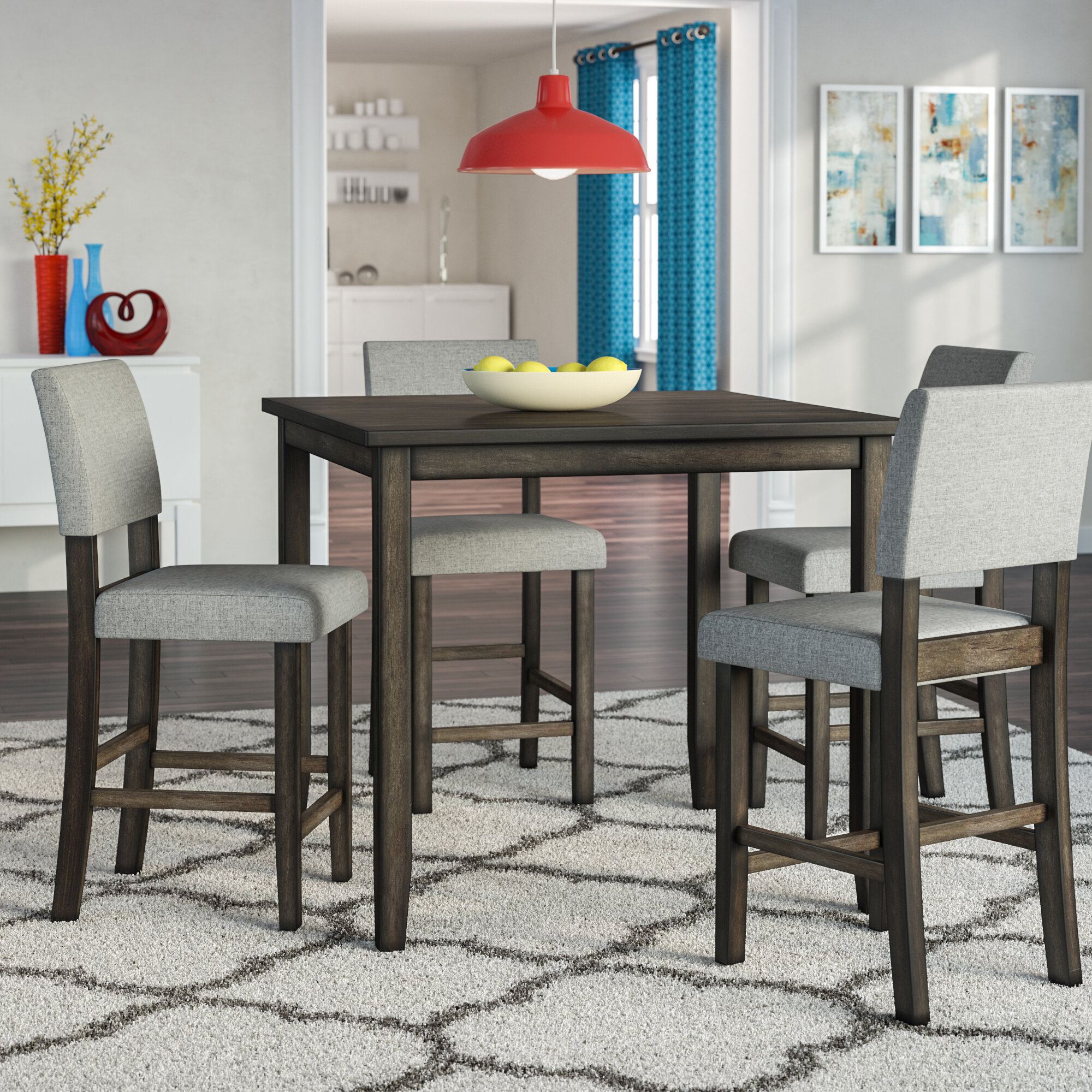 Most Recent Conover 5 Piece Dining Sets Within Ebern Designs Terrazas 5 Piece Dining Set  (#9 of 20)