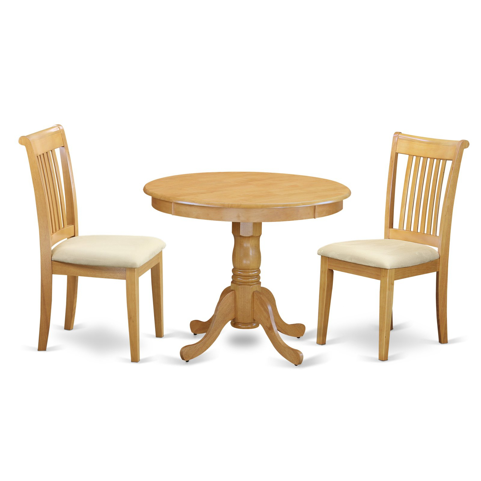 Inspiration about Most Recent East West Furniture Antique Anpo3 Three Piece Round Pedestal Dining With Travon 5 Piece Dining Sets (#20 of 20)