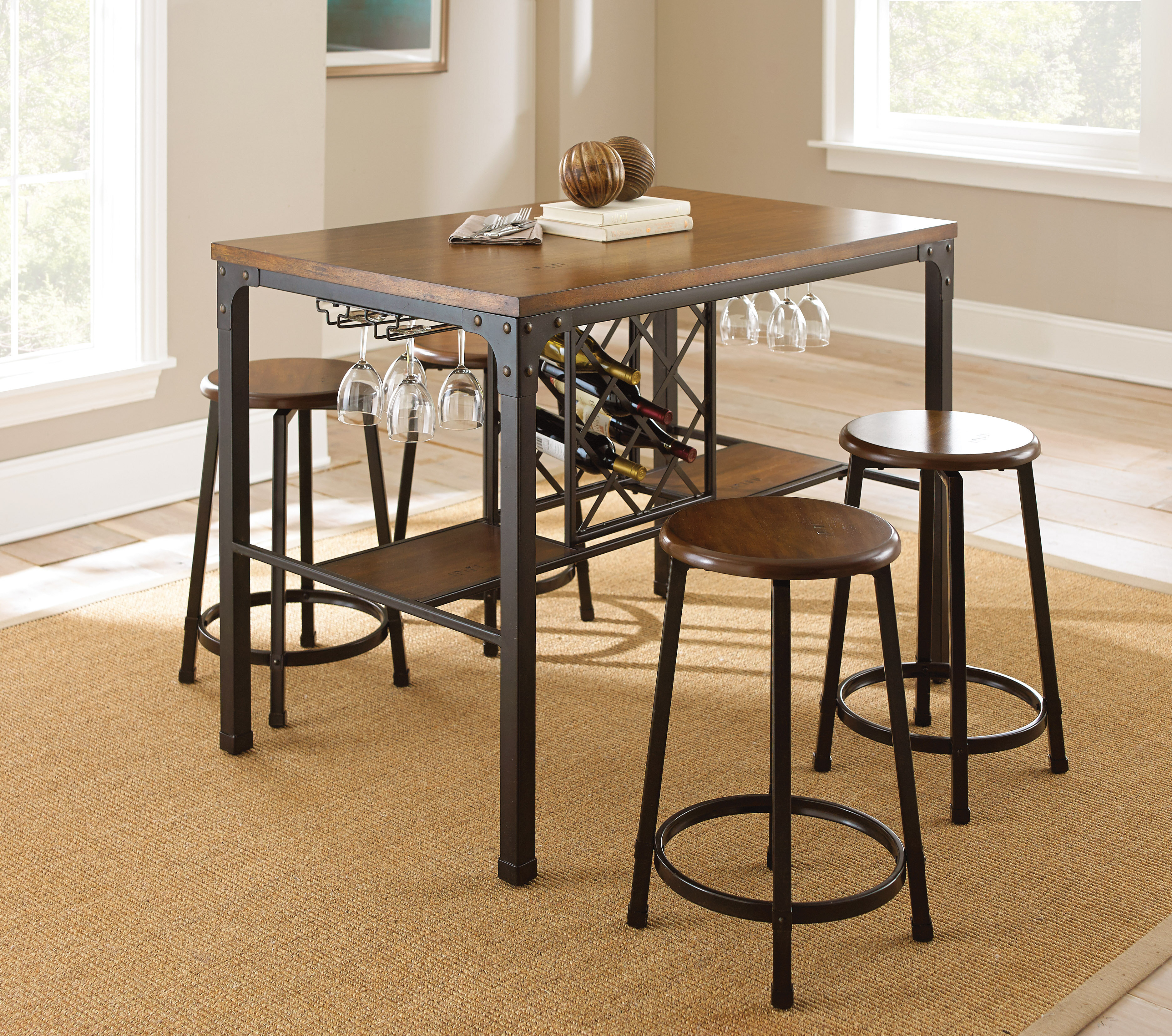 Inspiration about Most Recent Poynter 3 Piece Drop Leaf Dining Sets Within Trent Austin Design Woodside 5 Piece Pub Table Set & Reviews (#11 of 20)