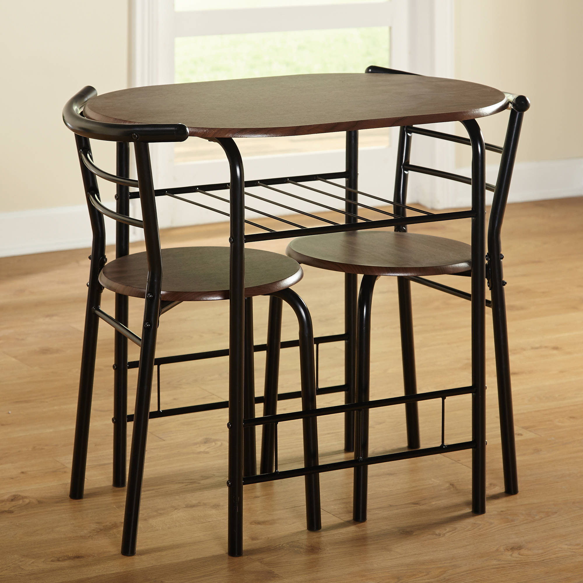 Inspiration about Most Recent Tms 3 Piece Bistro Dining Set – Walmart Pertaining To Bate Red Retro 3 Piece Dining Sets (#3 of 20)