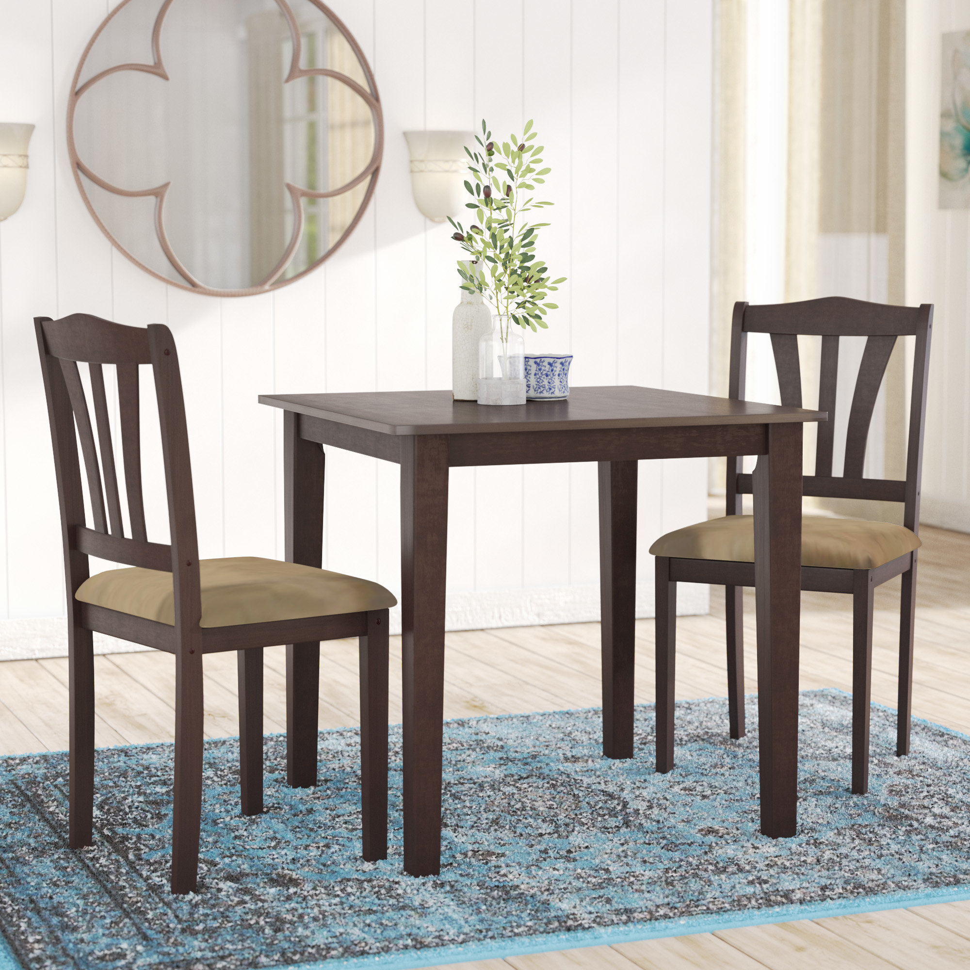 Inspiration about Most Recently Released Alcott Hill Dinah 3 Piece Dining Set (#12 of 20)