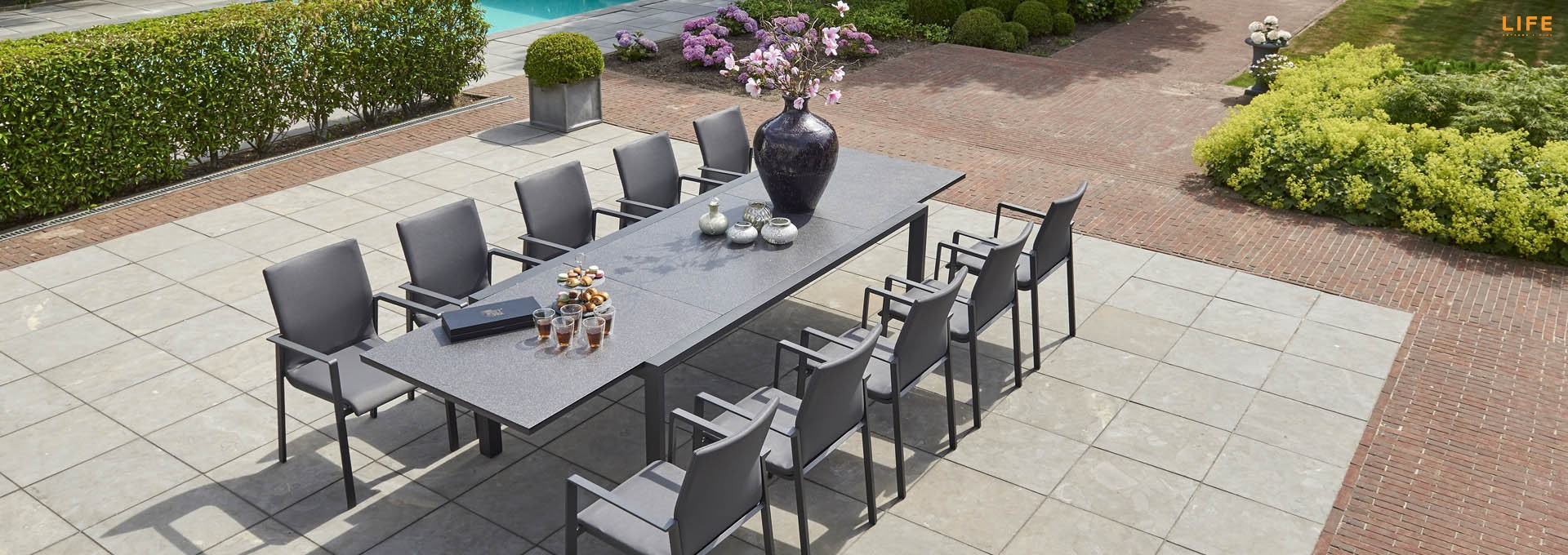 Inspiration about Most Recently Released Anabel Dining Extendable Lava – Life Outdoor Living For Osterman 6 Piece Extendable Dining Sets (set Of 6) (#19 of 20)