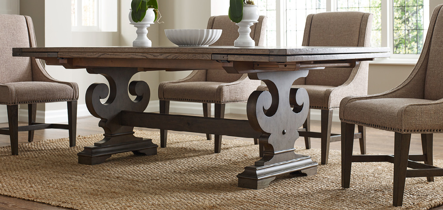 Inspiration about Most Recently Released Evellen 5 Piece Solid Wood Dining Sets (Set Of 5) Intended For Solid Wood Furniture And Custom Upholsterykincaid Furniture, Nc (#12 of 20)