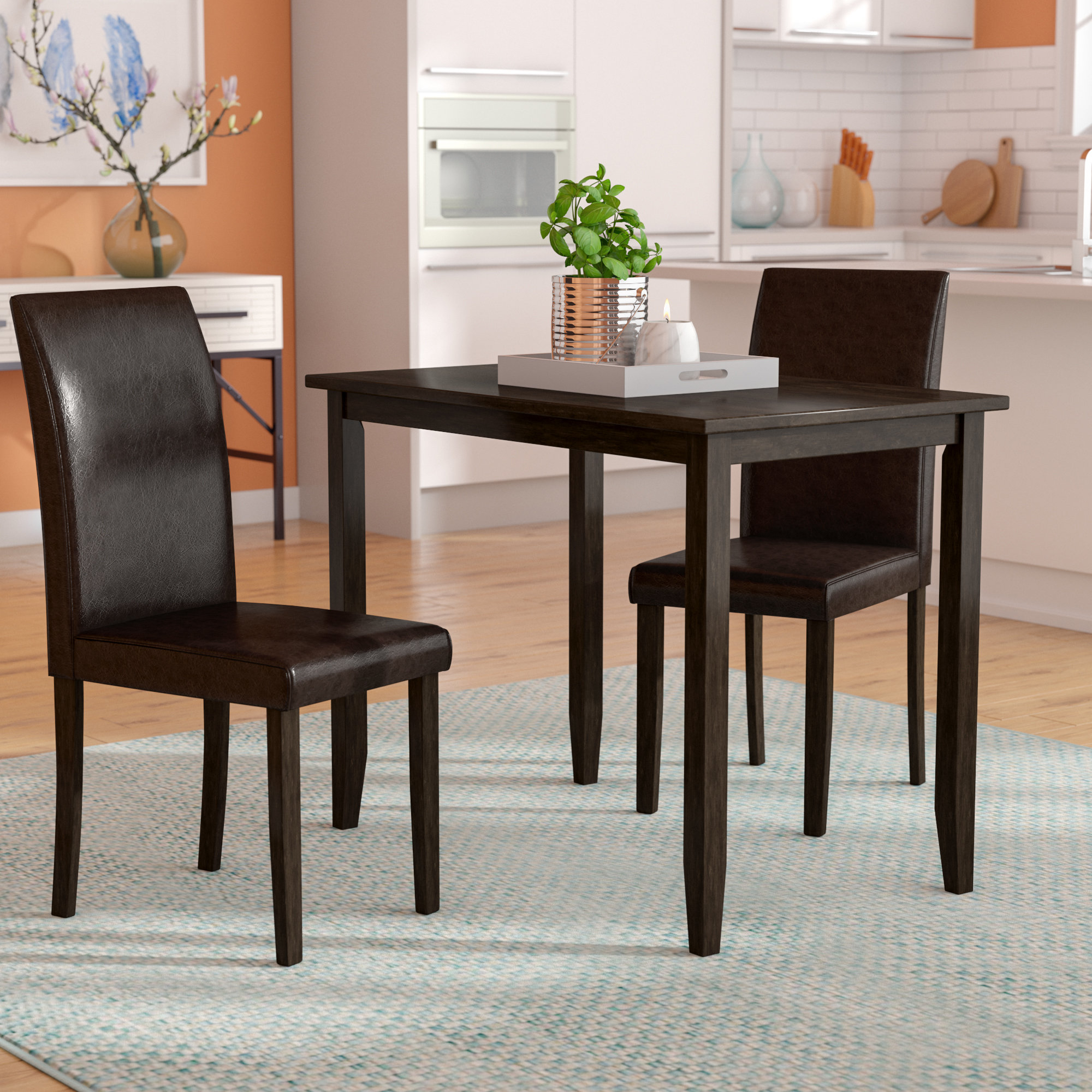 Most Recently Released Latitude Run Baillie 3 Piece Dining Set & Reviews (#7 of 20)