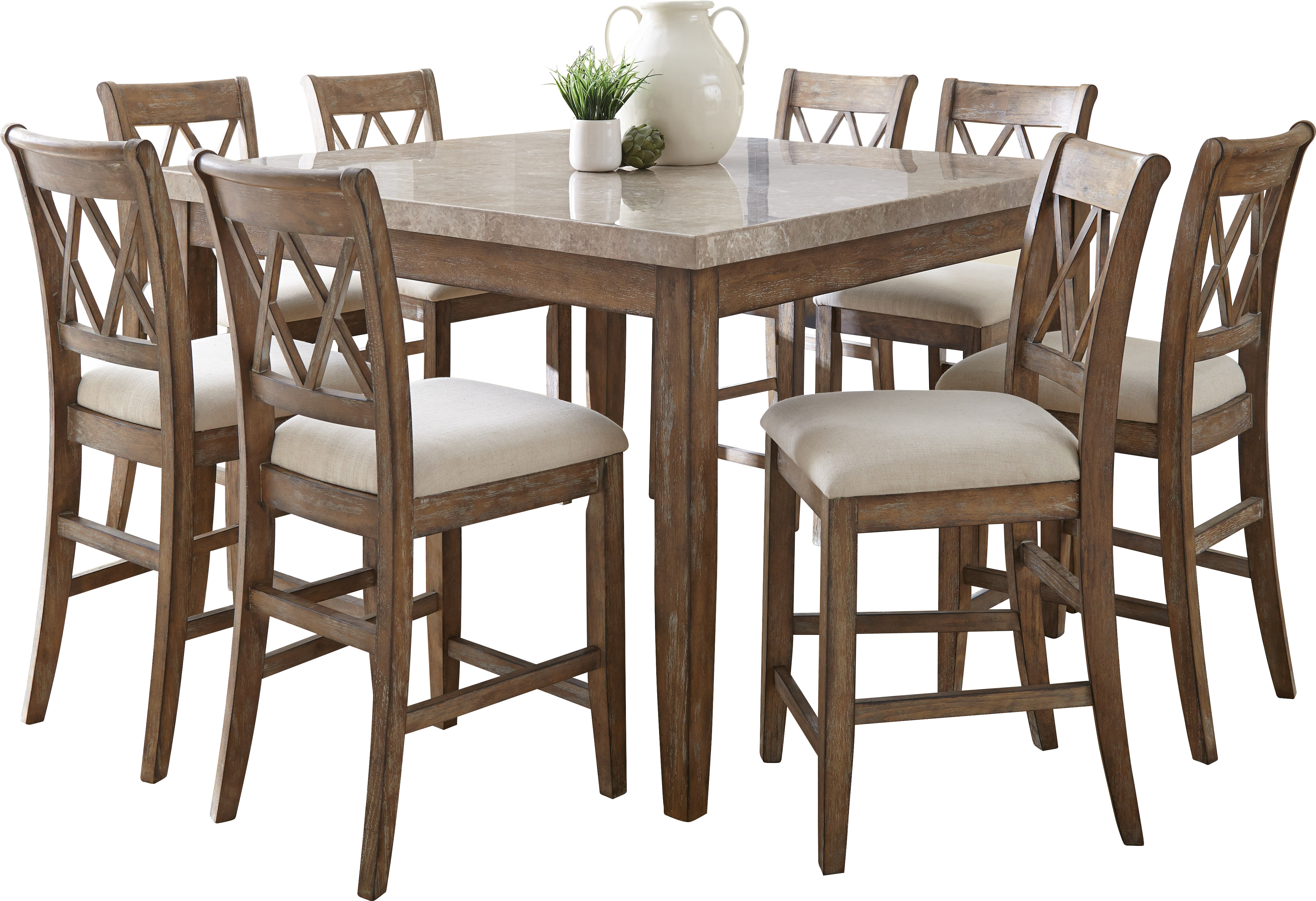 Inspiration about Most Up To Date Clearmont 9 Piece Dining Set (#9 of 20)