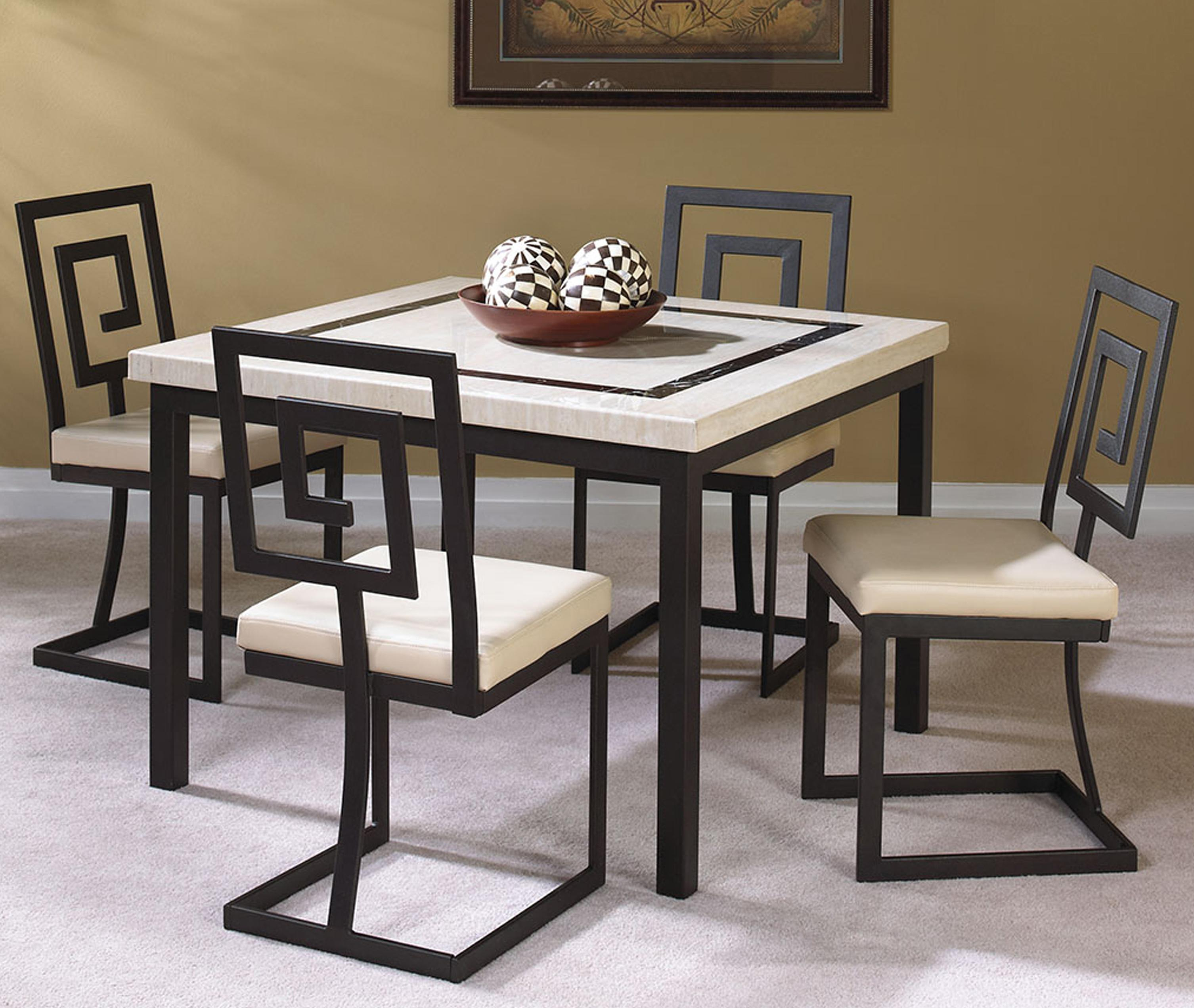 Most Up To Date Cramco, Inc Maze 5 Piece Square Table And Side Chair Set (#12 of 20)