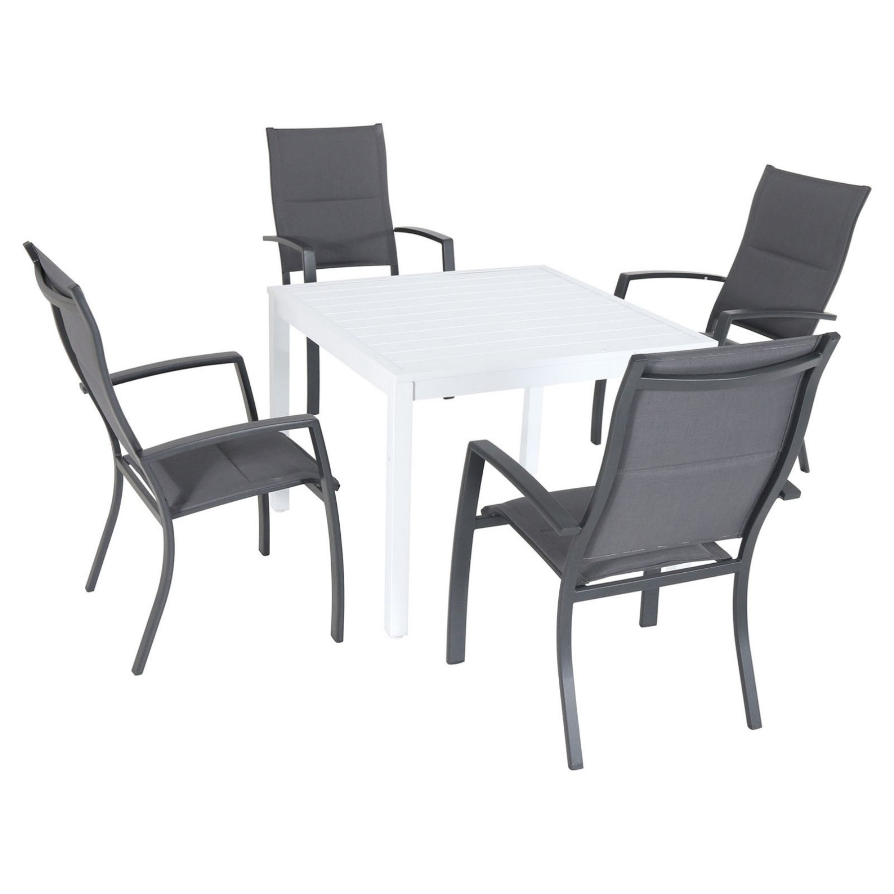 Most Up To Date Delmar 5 Piece Dining Sets With Regard To Hanover Del Mar Aluminum 5 Piece Outdoor Patio Dining Set With (View 4 of 20)