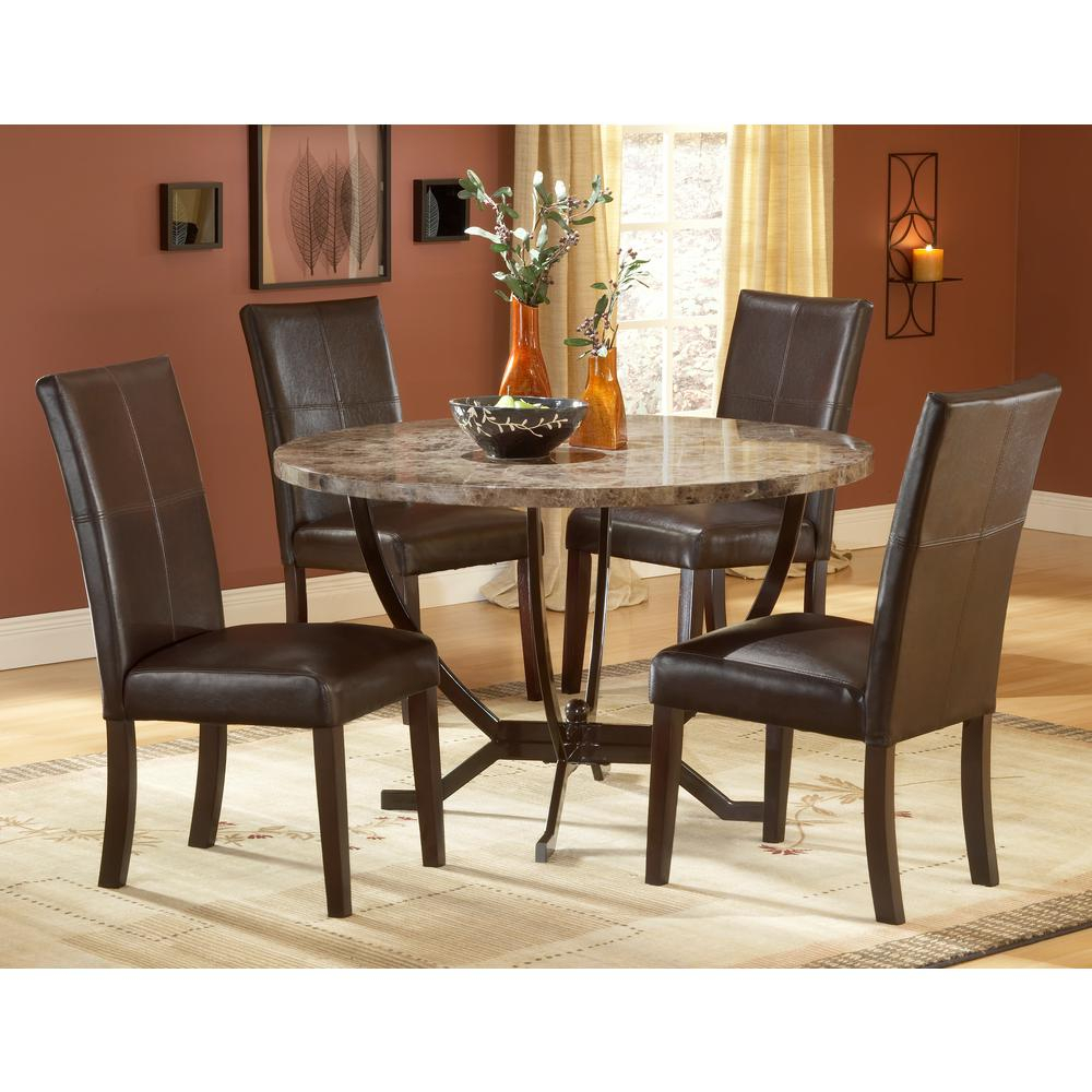 Inspiration about Most Up To Date Hillsdale Furniture Monaco 5 Piece Matte Espresso Dining Set Inside 5 Piece Dining Sets (#15 of 20)