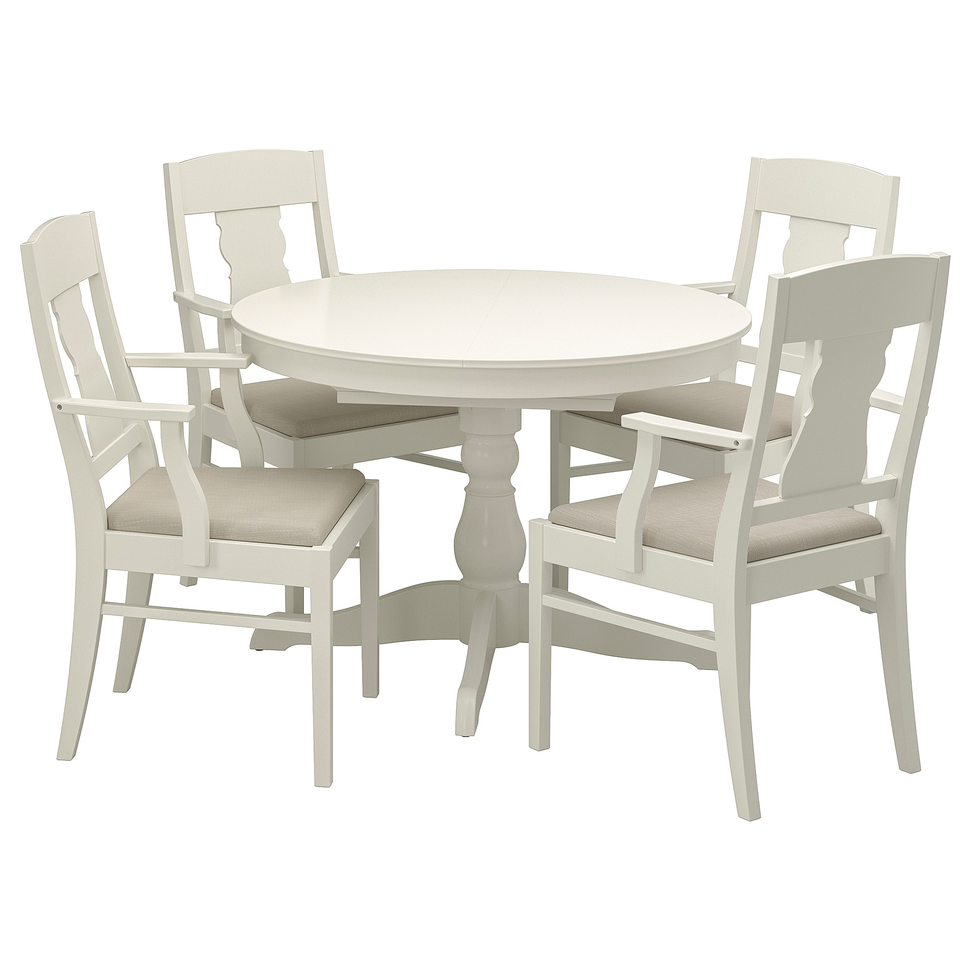 Most Up To Date Ingatorp / Ingatorp Table And 4 Chairs – White – Ikea For Castellanos Modern 5 Piece Counter Height Dining Sets (View 9 of 20)