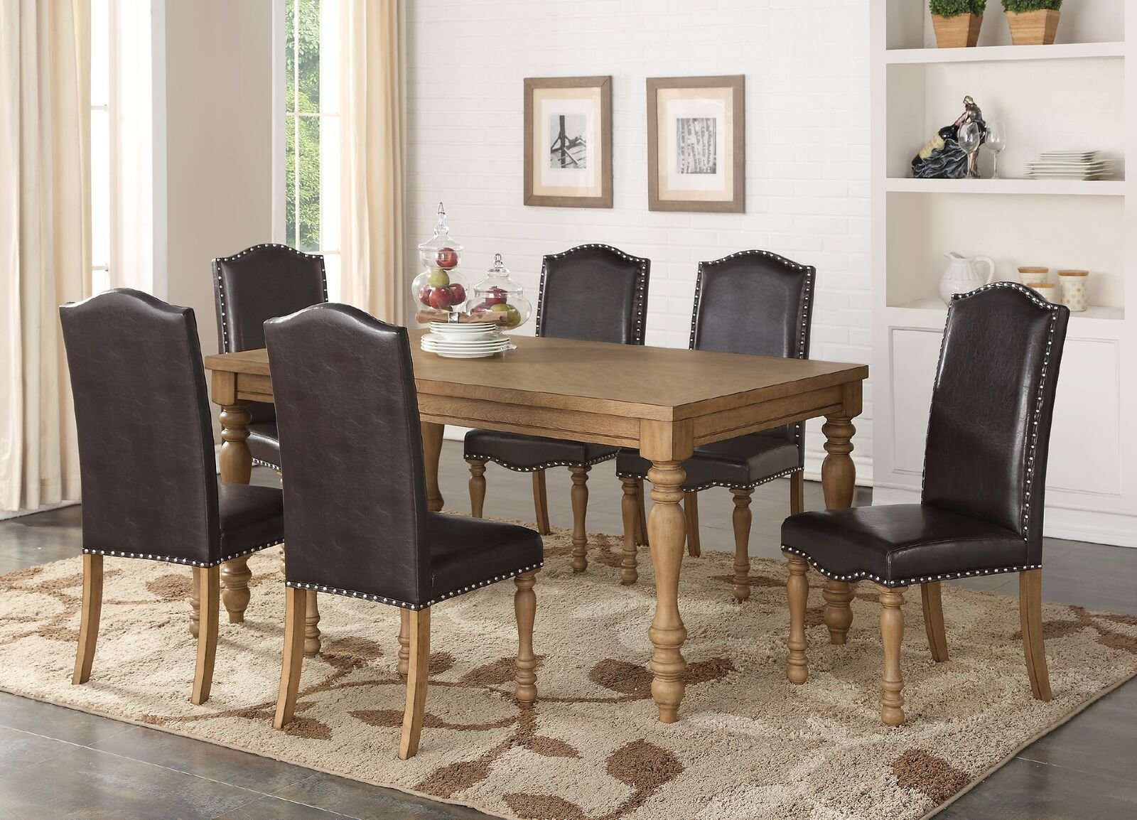 Inspiration about Most Up To Date Keitt 7 Piece Dining Set In Biggs 5 Piece Counter Height Solid Wood Dining Sets (Set Of 5) (#14 of 20)