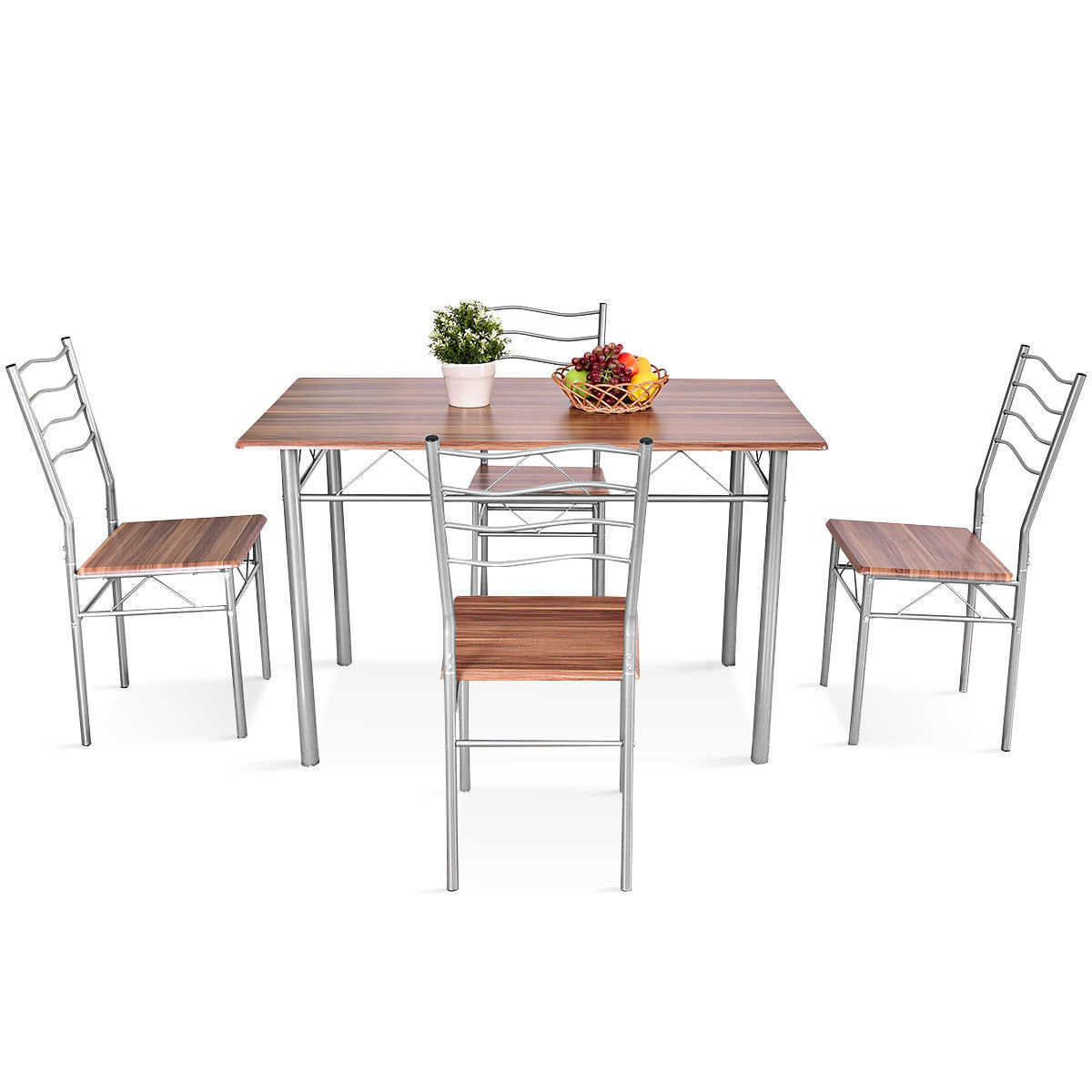 Most Up To Date Miskell 5 Piece Dining Sets Pertaining To Winston Porter Miskell 5 Piece Dining Set  (#12 of 20)