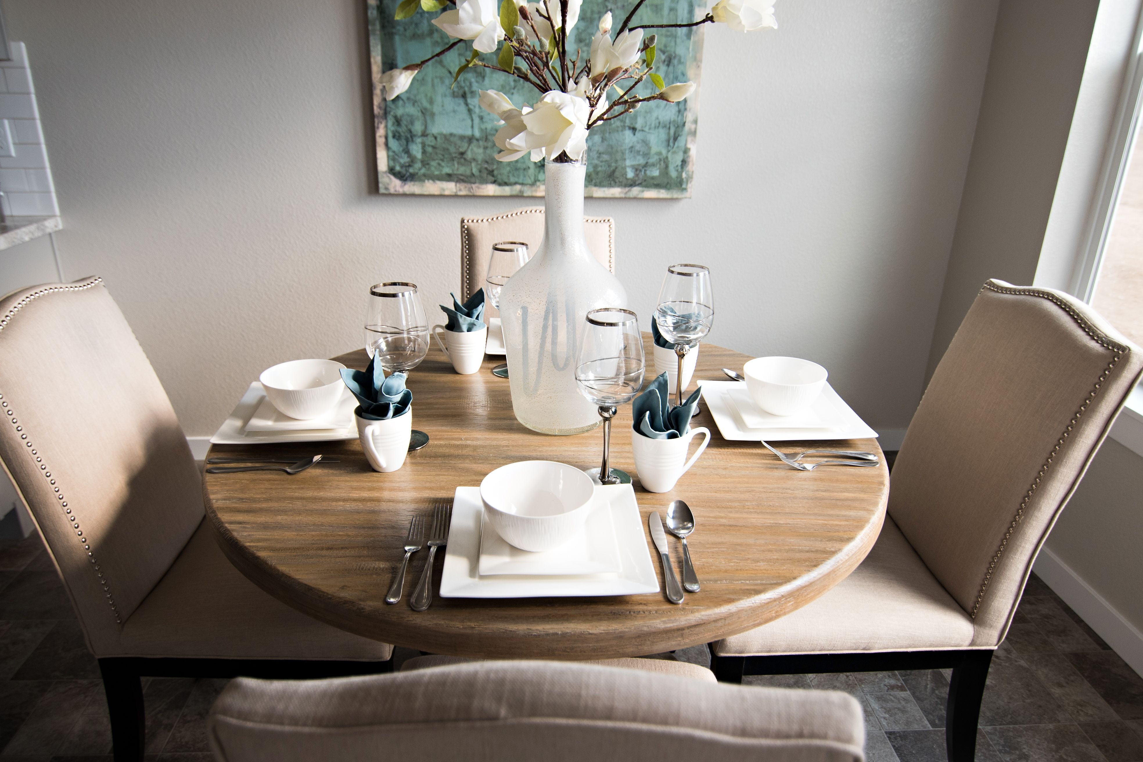 Inspiration about Most Up To Date Mukai 5 Piece Dining Sets Inside We Love This Circle Dining Room Table Set Up In Our Kincaid 1600 (#12 of 20)