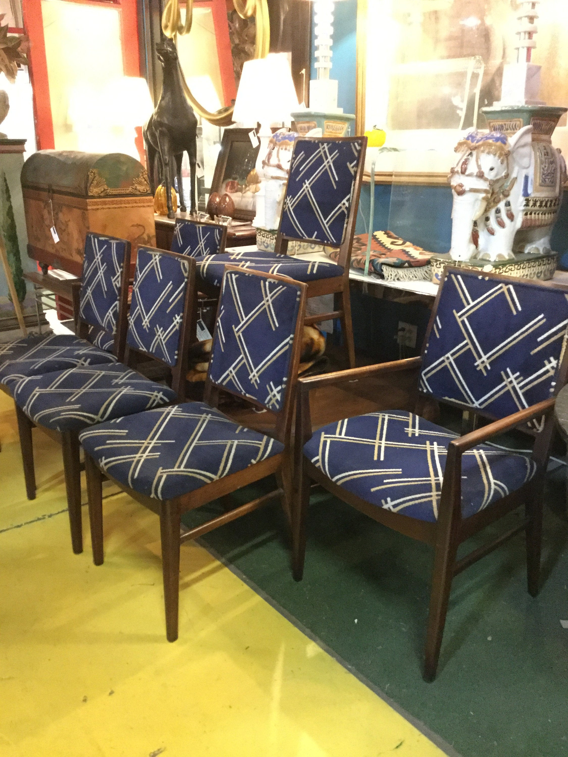 Inspiration about Most Up To Date Set Of Six 2 Arm Chairs 4 Side Chairs Original John Stuart Dining Within John 4 Piece Dining Sets (#16 of 20)