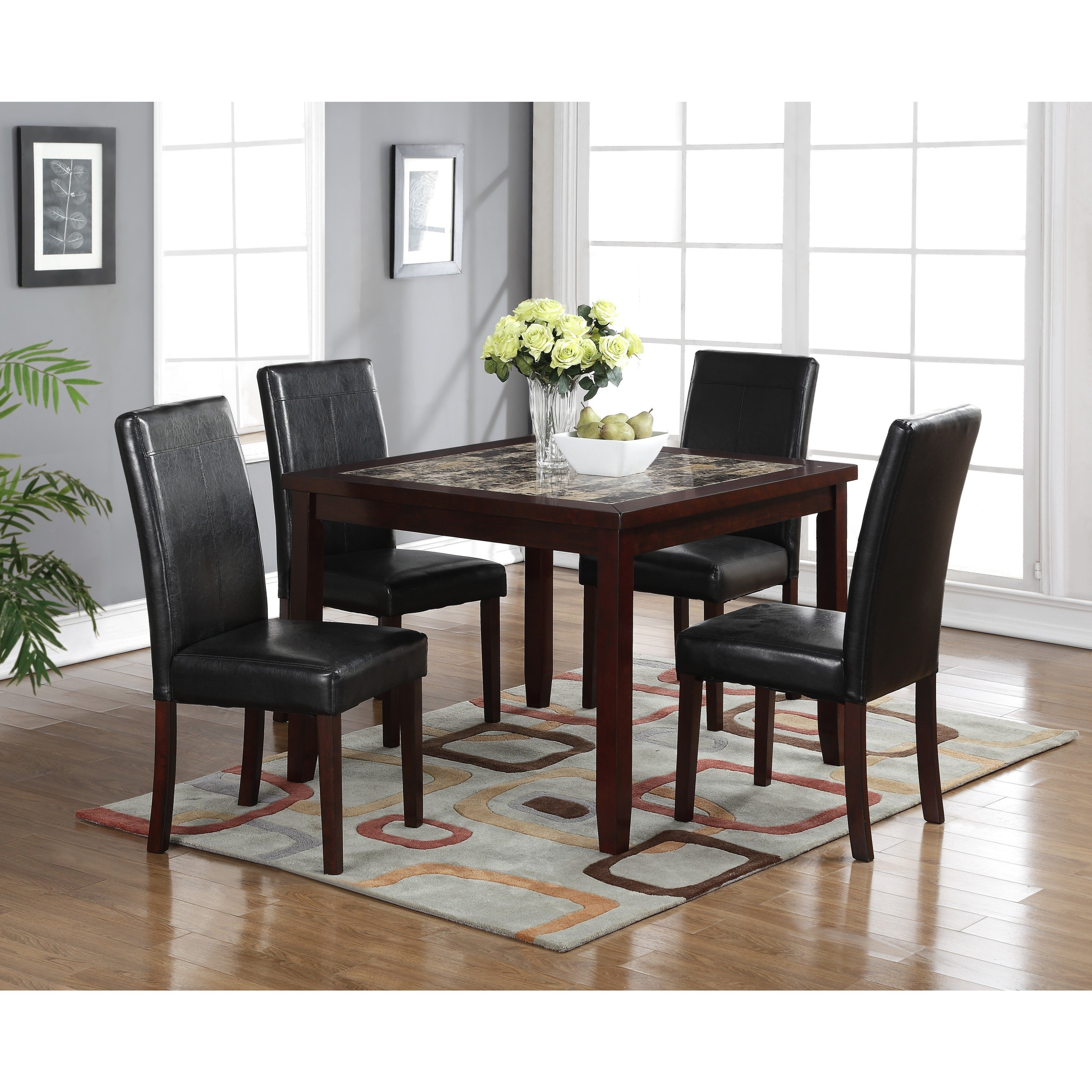 Most Up To Date Shop Lyke Home Aria 5 Piece Square Pub Dining Set – Free Shipping Inside Aria 5 Piece Dining Sets (View 3 of 20)