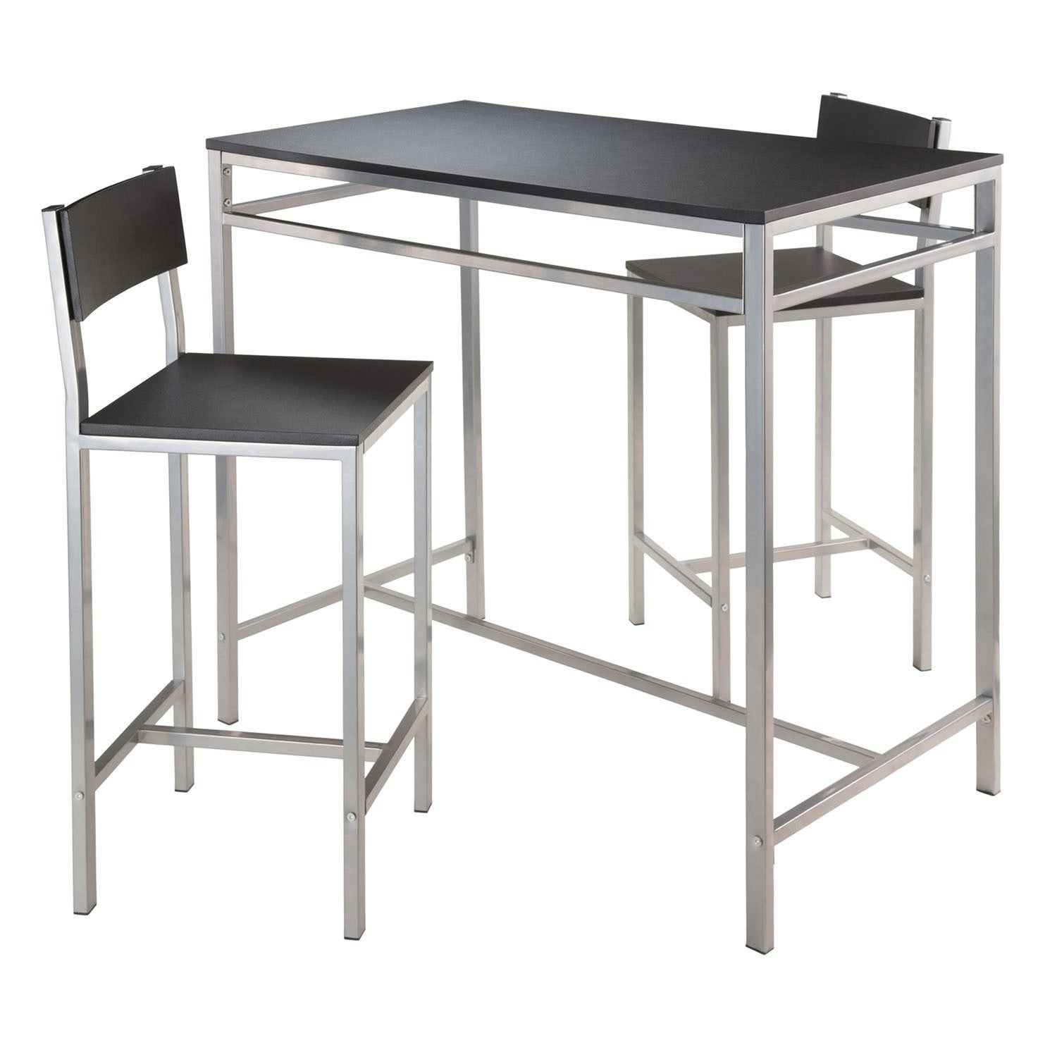 Inspiration about Most Up To Date Winsome 3 Piece Counter Height Dining Sets In Shop Winsome Hanley 3 Piece Pub Height Dining Table Set With 2 (#19 of 20)