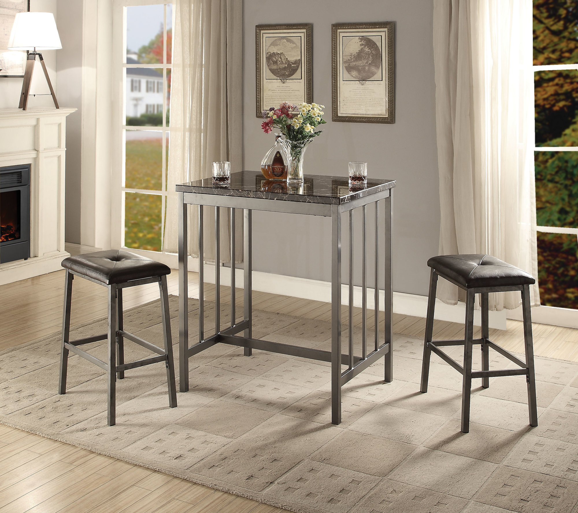 Inspiration about Most Up To Date Winston Porter Mizpah 3 Piece Counter Height Dining Set 192448413983 Regarding Mizpah 3 Piece Counter Height Dining Sets (#3 of 20)