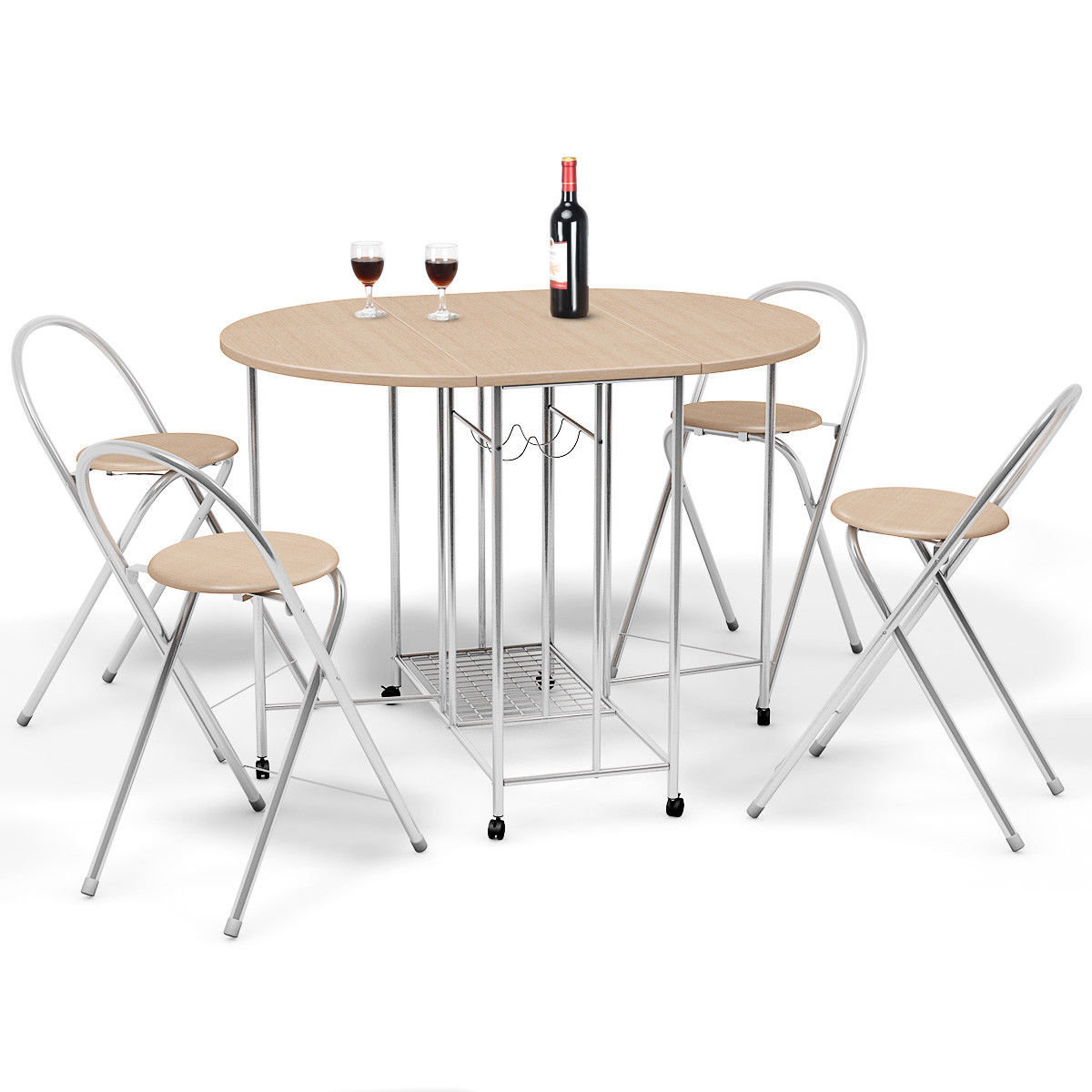 Mulvey 5 Piece Dining Sets Pertaining To Fashionable Symple Stuff Holderman 5 Piece Counter Height Extendable Dining Set (#4 of 20)