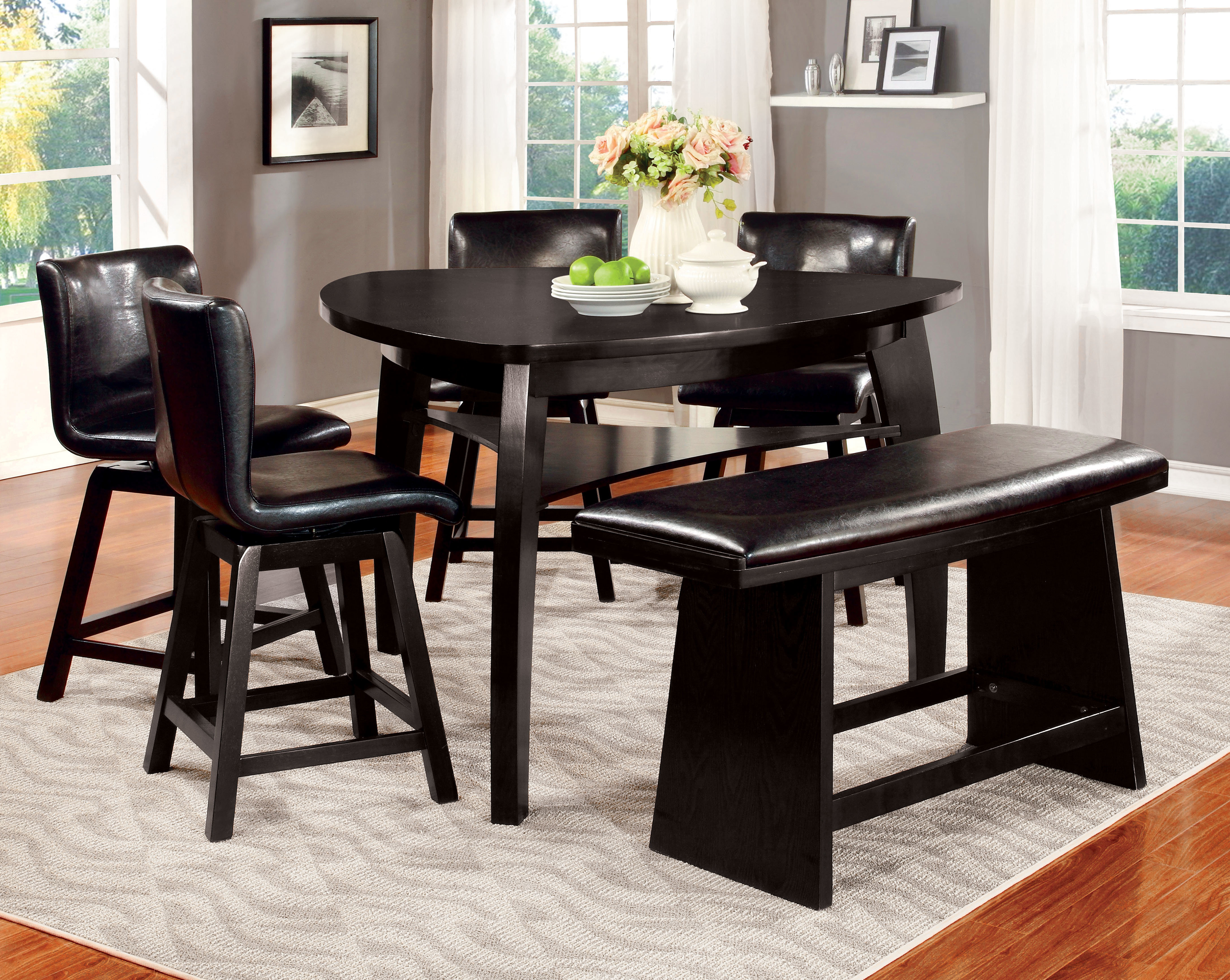Newest Anette 3 Piece Counter Height Dining Sets Throughout Hokku Designs Lawrence 6 Piece Counter Height Pub Table Set (#12 of 20)