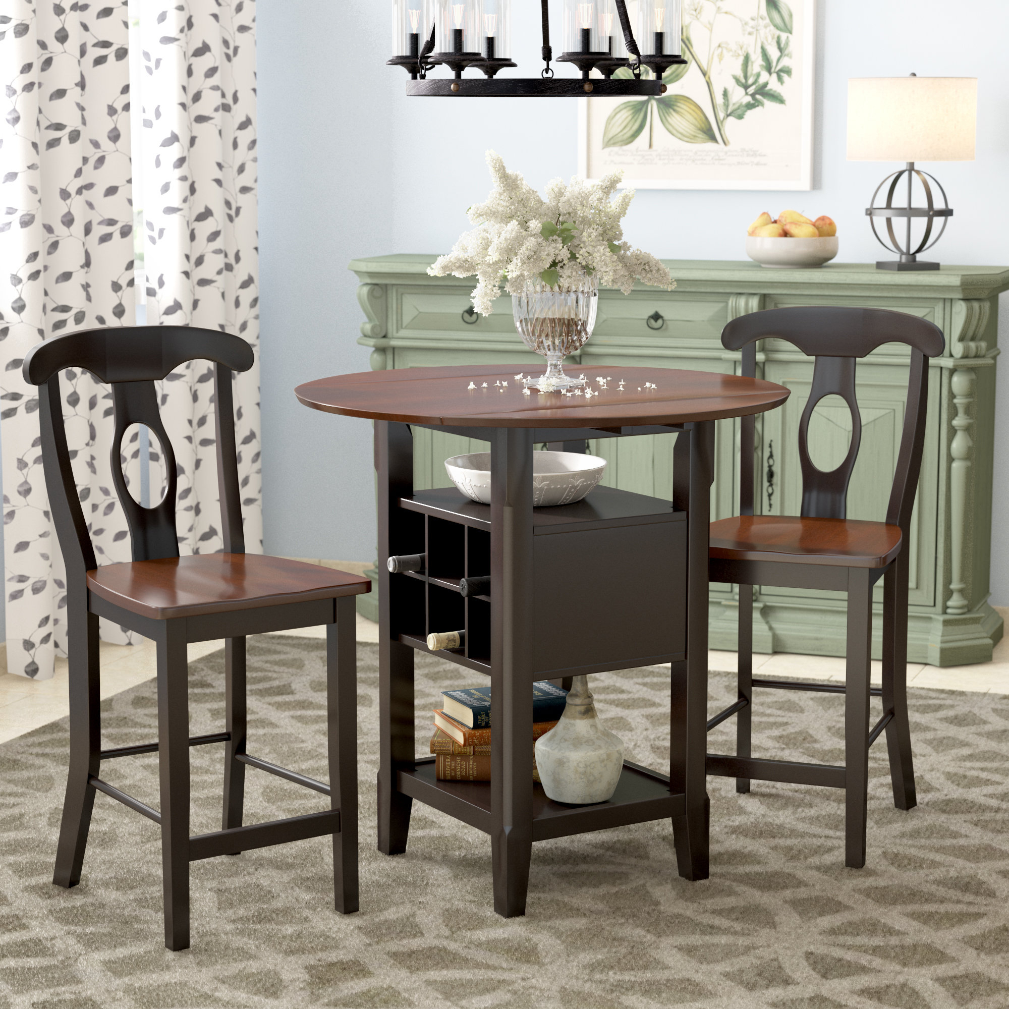 Newest August Grove Strope 3 Piece Dining Set & Reviews (View 16 of 20)