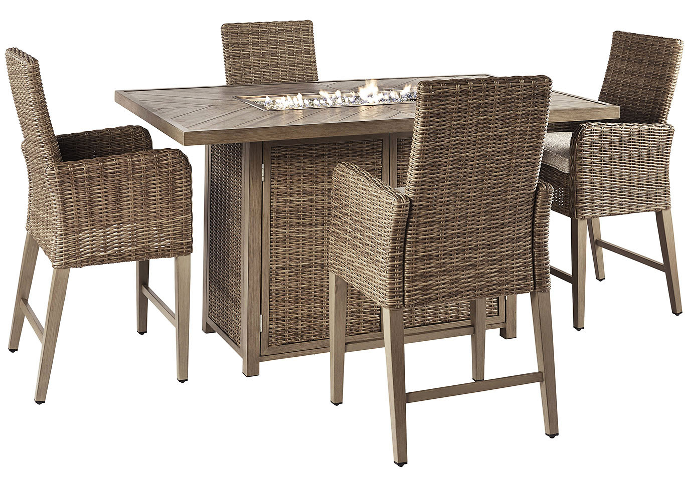 Newest Berrios 3 Piece Counter Height Dining Sets Pertaining To Ashley Furniture Homestore – Independently Owned And Operated (View 14 of 20)