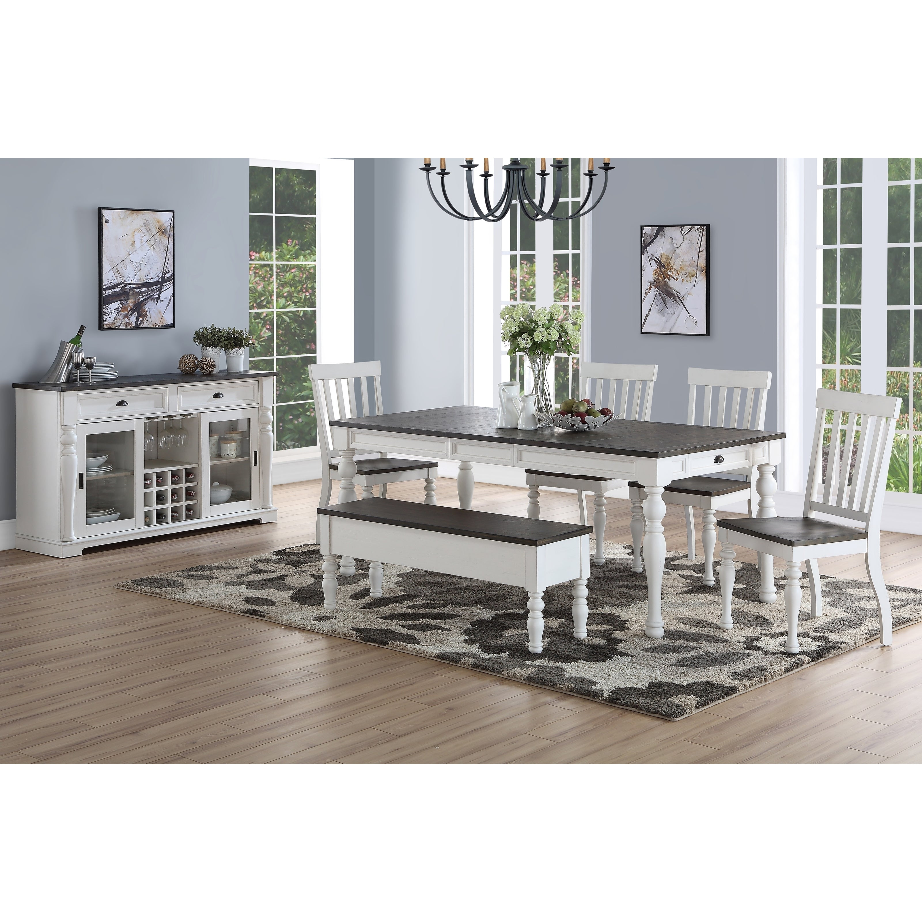 Newest Buy 6 Piece Sets Kitchen & Dining Room Sets Online At Overstock In Osterman 6 Piece Extendable Dining Sets (Set Of 6) (#7 of 20)