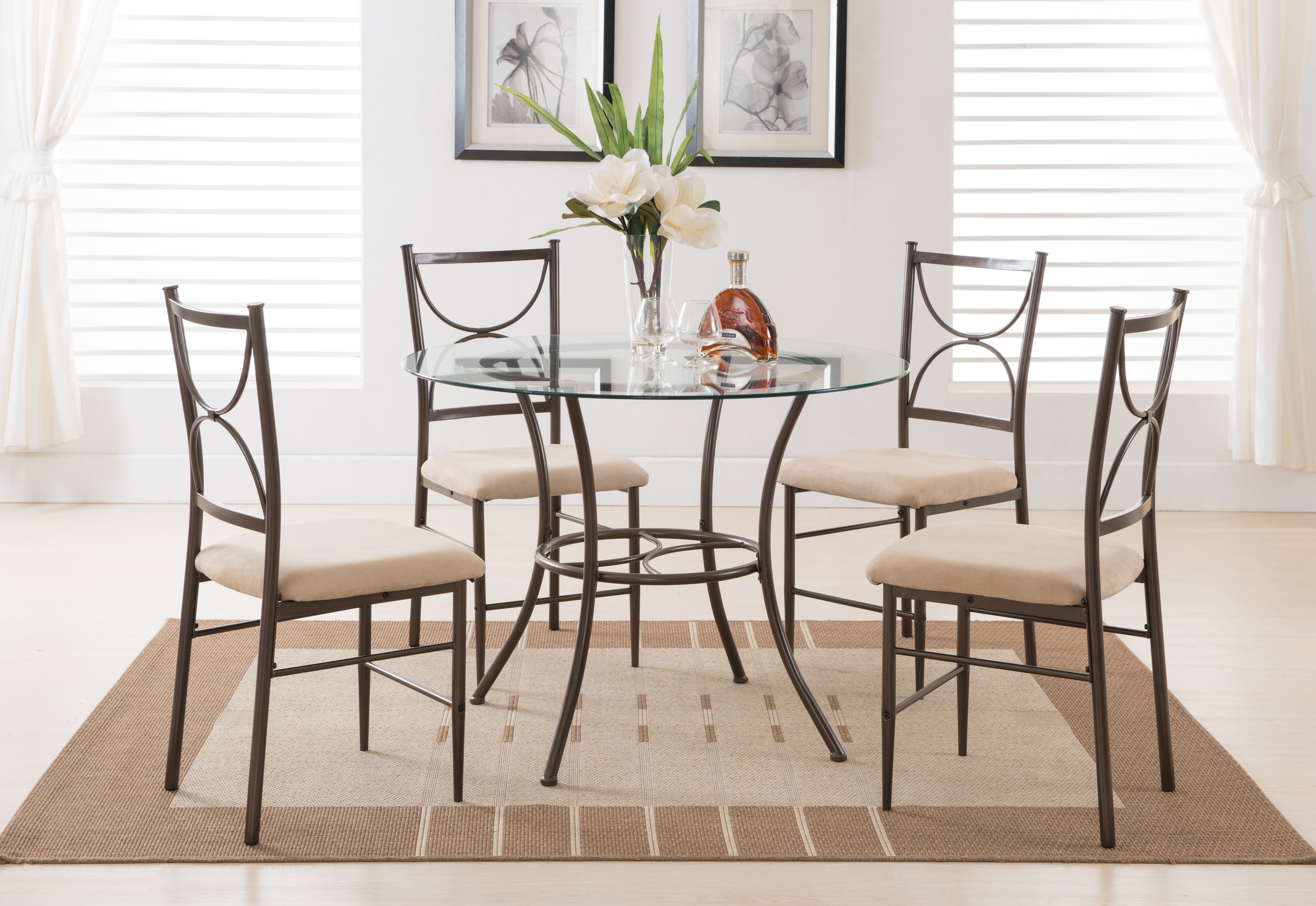 Newest Cargo 5 Piece Dining Sets Inside Tms Mason 5 Piece Cross Back Dining Set, Multiple Colors – Walmart (View 8 of 20)